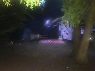 night time with awning lights on. Adventurer Adventurer 2018