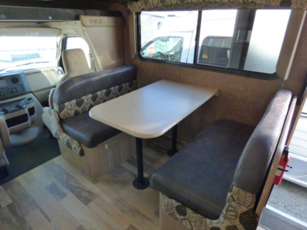 Table converts to bed. Coachmen Freelander 2016