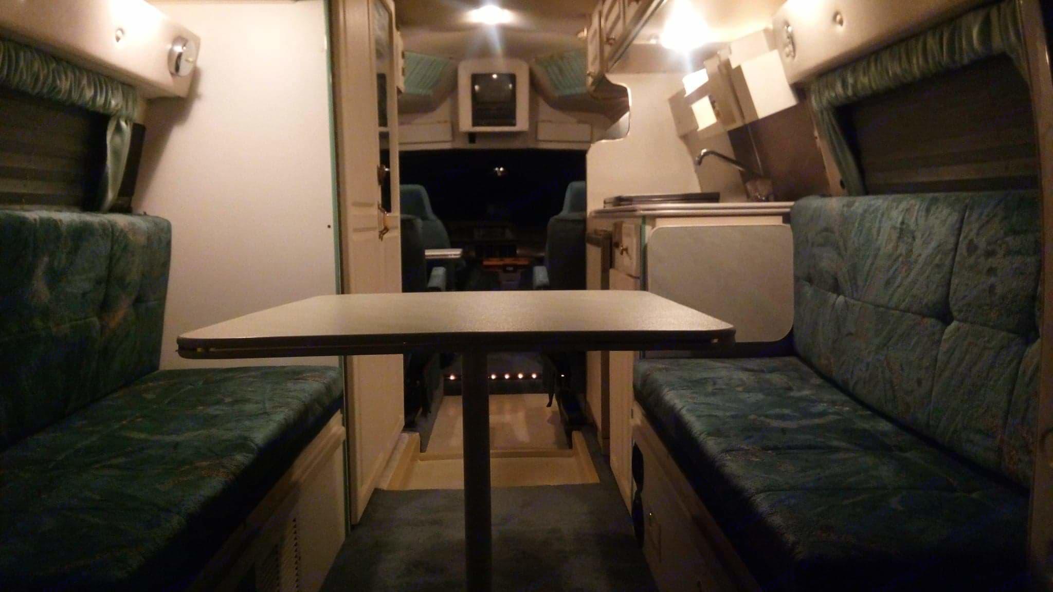 Dinning/ bedroom area. Leisure Travel Freedom 1996