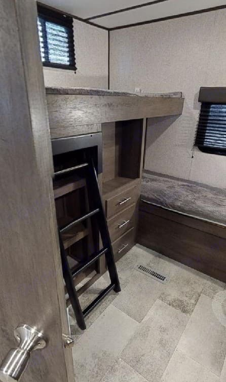Bunkhouse has 4 twin beds. Coleman Other 2020