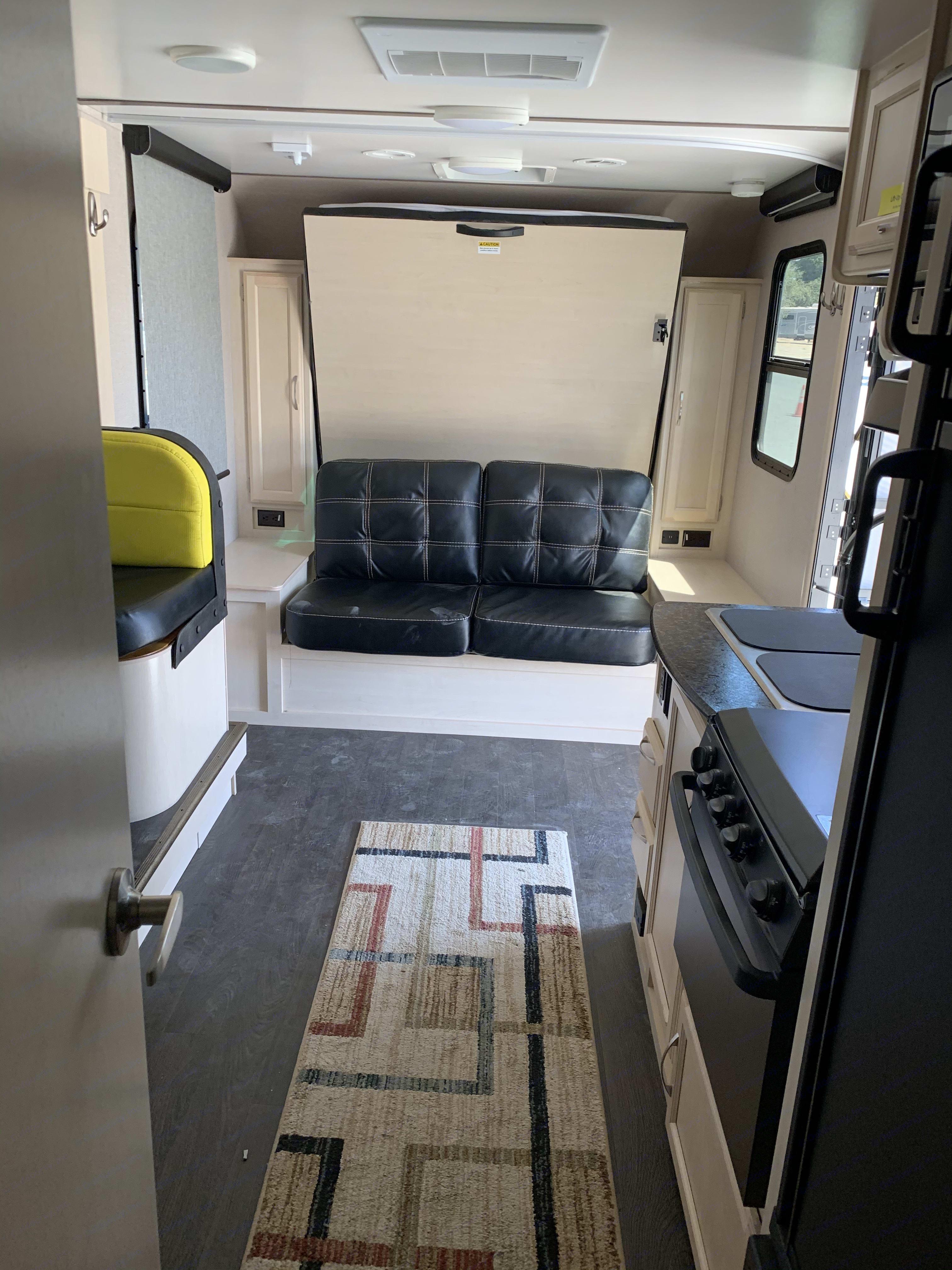 Spacious interior when slide is out. Winnebago Micro Minnie 2019