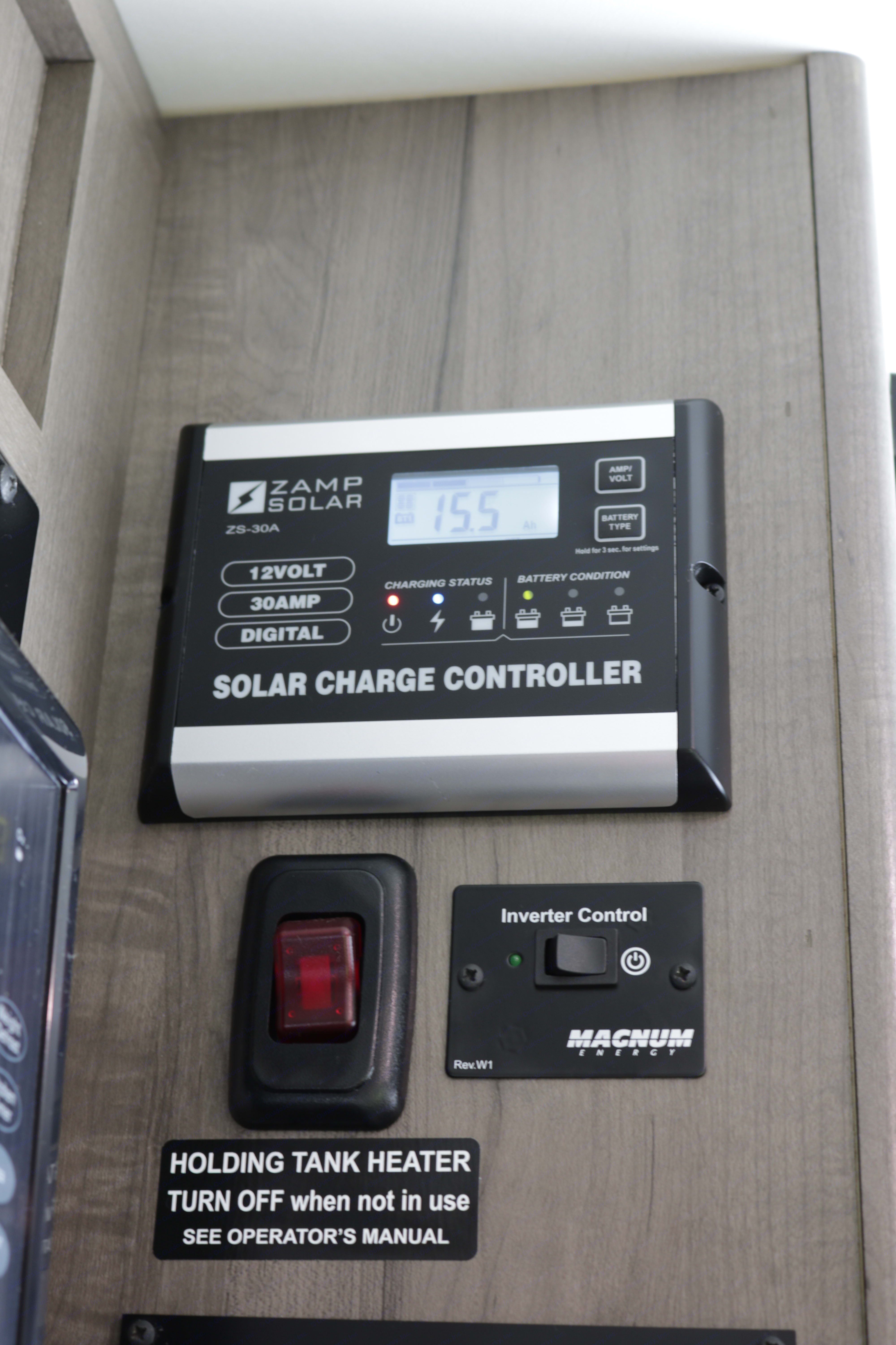 Solar controller , and Inverter switch.. Winnebago Minnie Winnie 2020