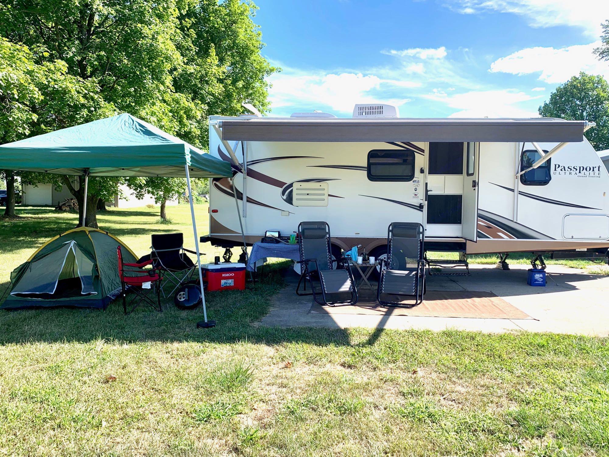Full camp site ready for fun!. Keystone Passport 2013