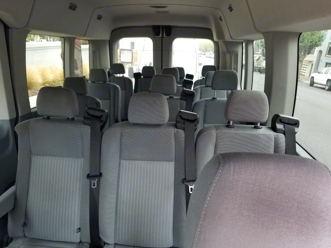 View inside from the front. Ford Transit 2017