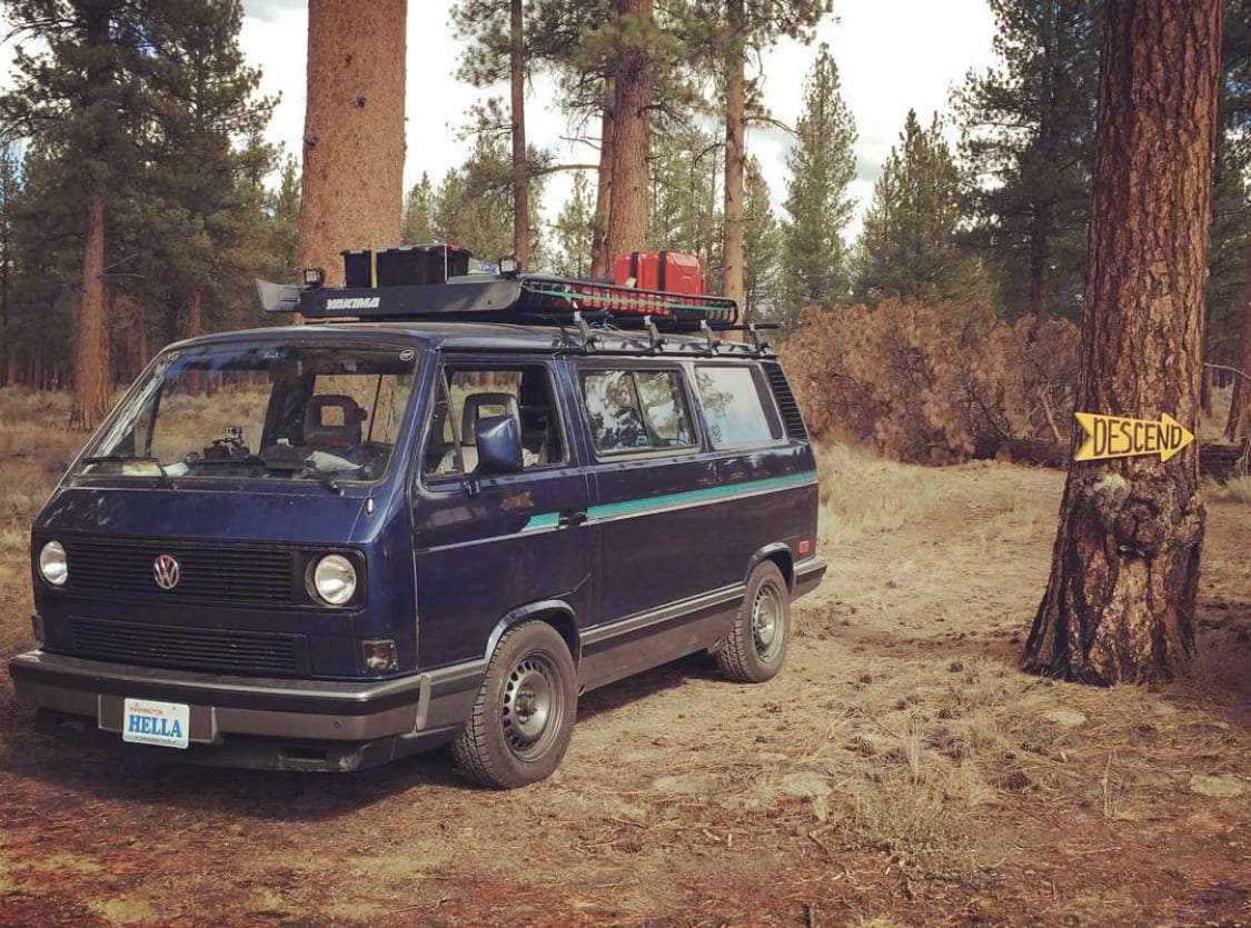 Vintage VW Vanagon GL tintop, affectionately named Hella is ready for your next family vacation.. Volkswagen Vanagon GL 1991