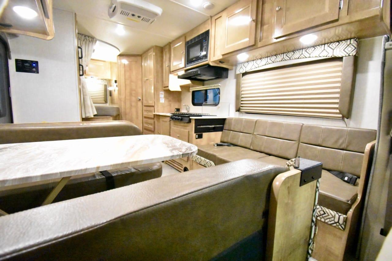 Spacious living area. Coachmen Leprechaun 2020