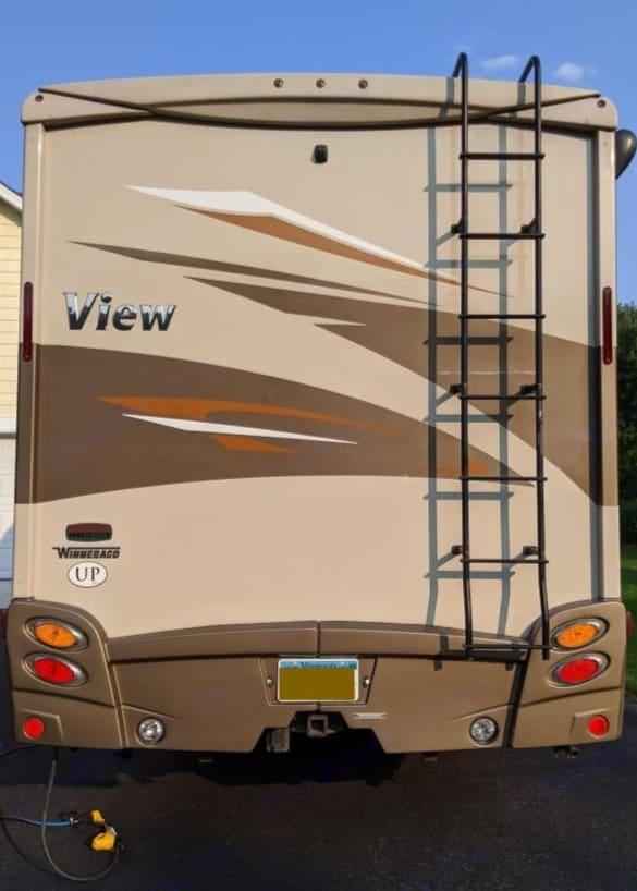 Rear - 12' high. Winnebago View 2017