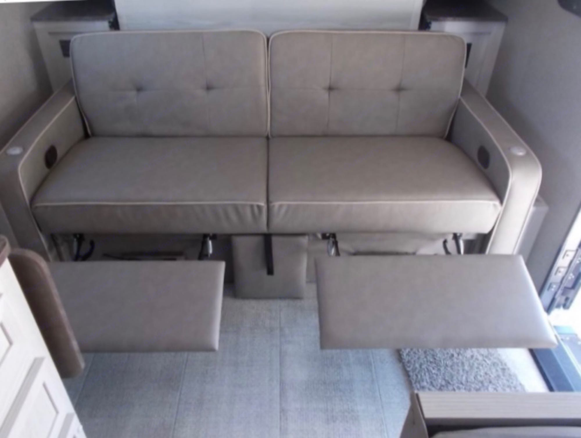 Couch w/Footrests. Forest River Rockwood 2021