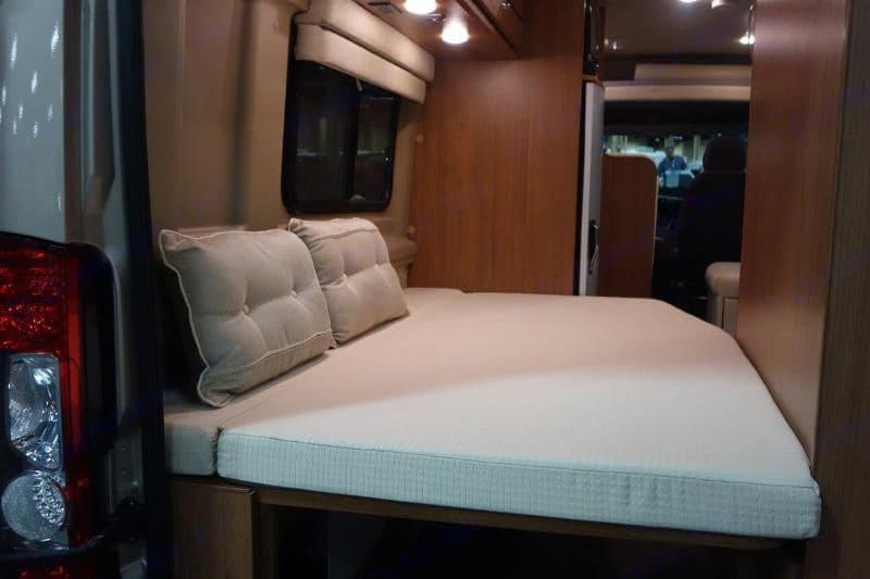 Master Bedroom, Murphy style Bed. Winnebago Travato 2015