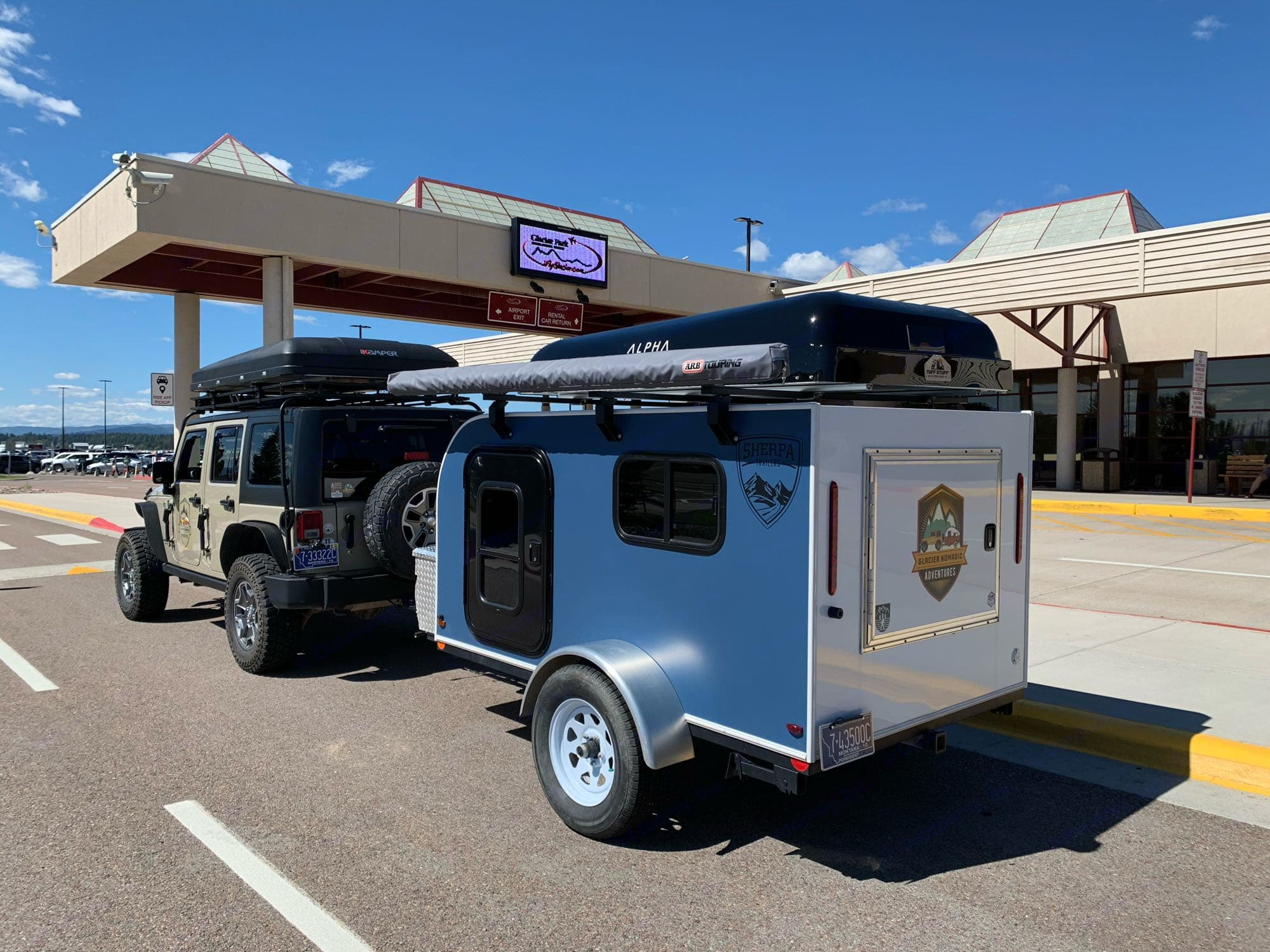 We can pick you at Glacier International Airport Pickup Service. Camper Trailer Adventure (X2) 2018