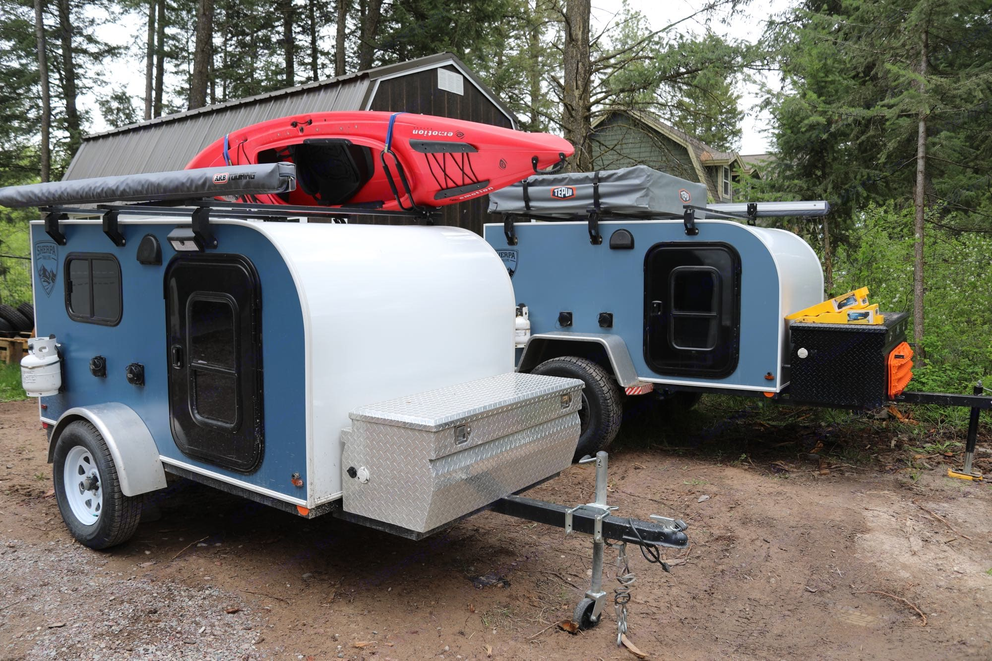Several different options to pick from.. Camper Trailer Adventure (X2) 2018