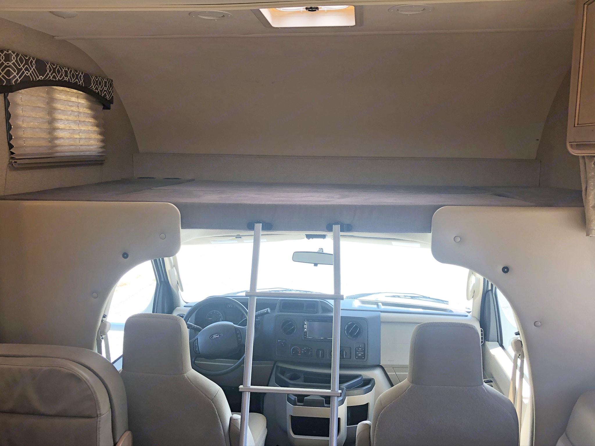 Cab-over bunk. Thor Motor Coach Chateau 2019