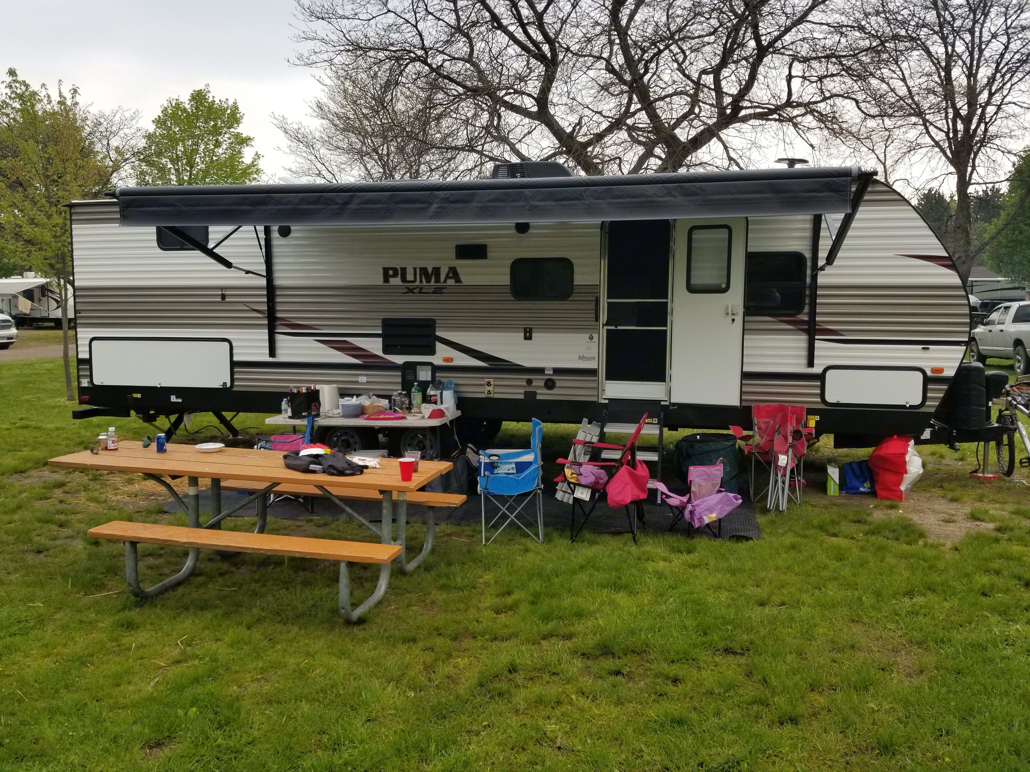 This was the first trip we had this camper out.. Palomino Puma 2019