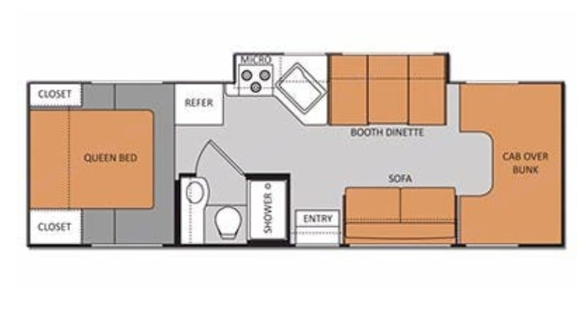 Floor Plan. Thor Motor Coach Four Winds 2012