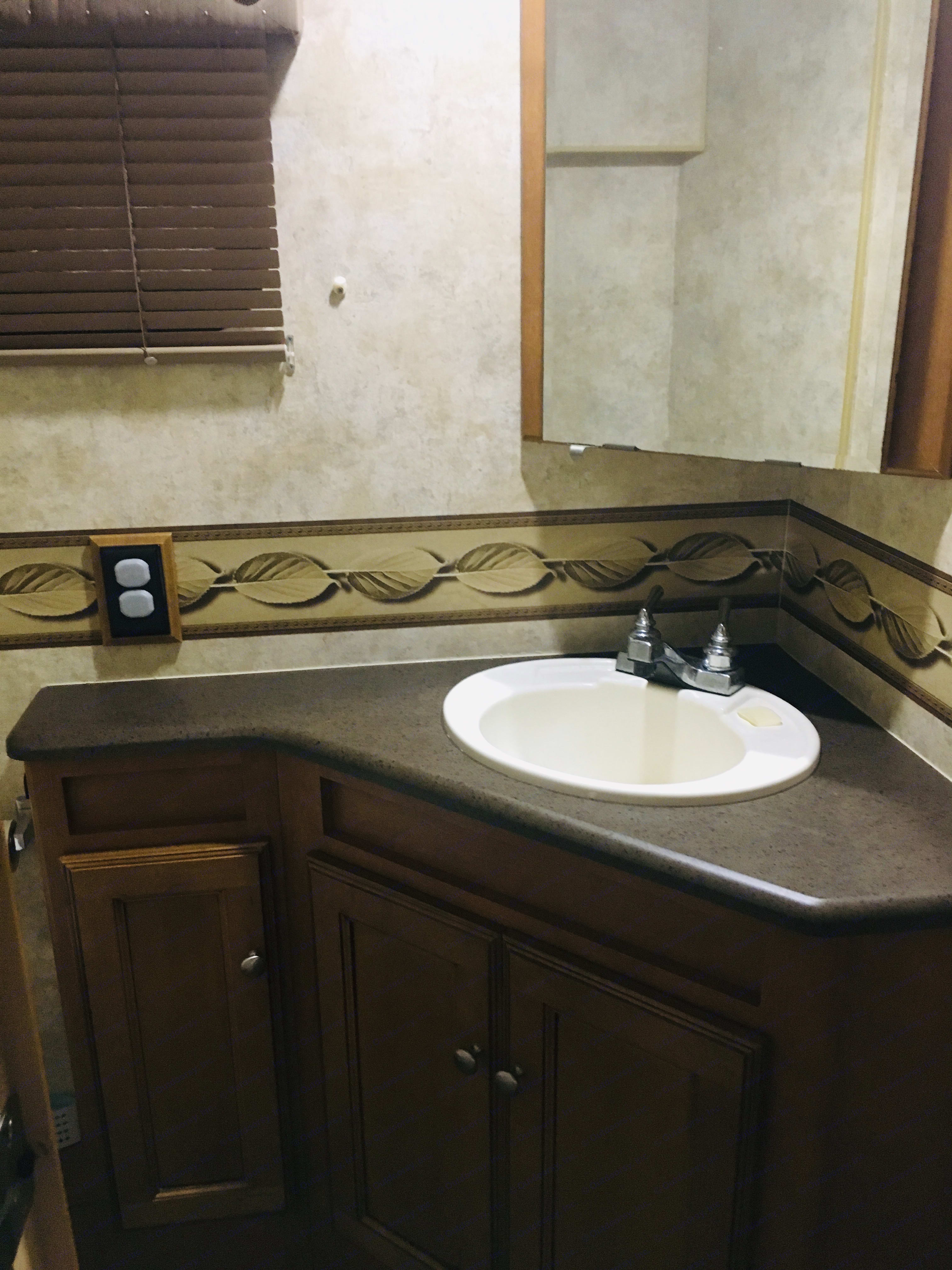 Main area bathroom. Winnebago Vista 2012