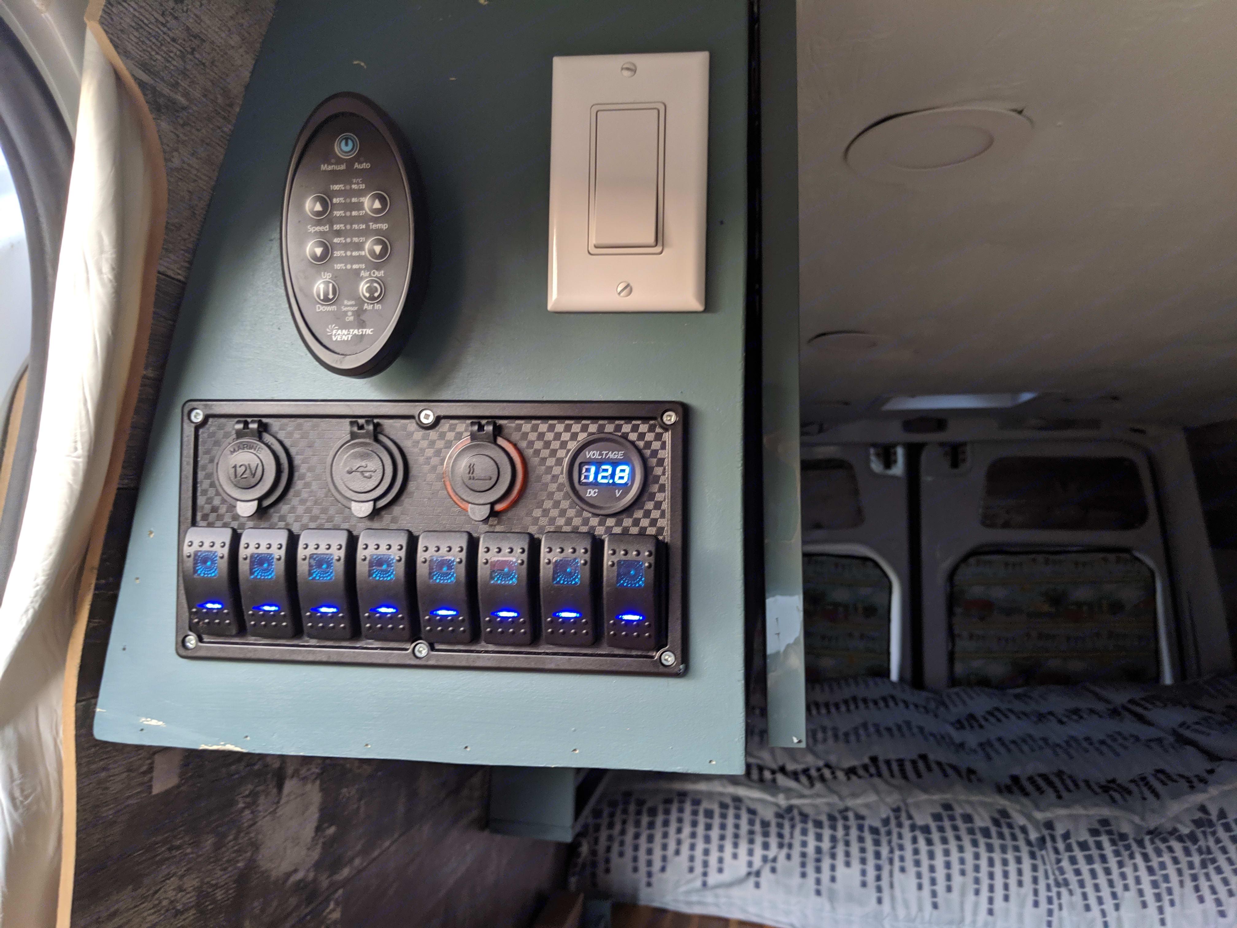 Control pannel. Mercedes-Benz Sprinter 2012