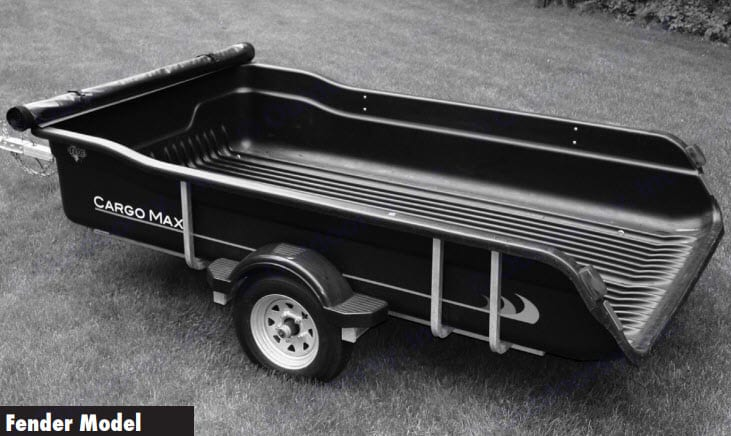 Stock Cargo Max Trailer (Note: rental unit does not include the tonneau cover.. Floe Cargo Max 2013