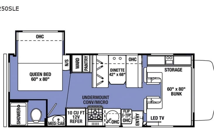 RV Layout. Forest River Sunseeker 2021