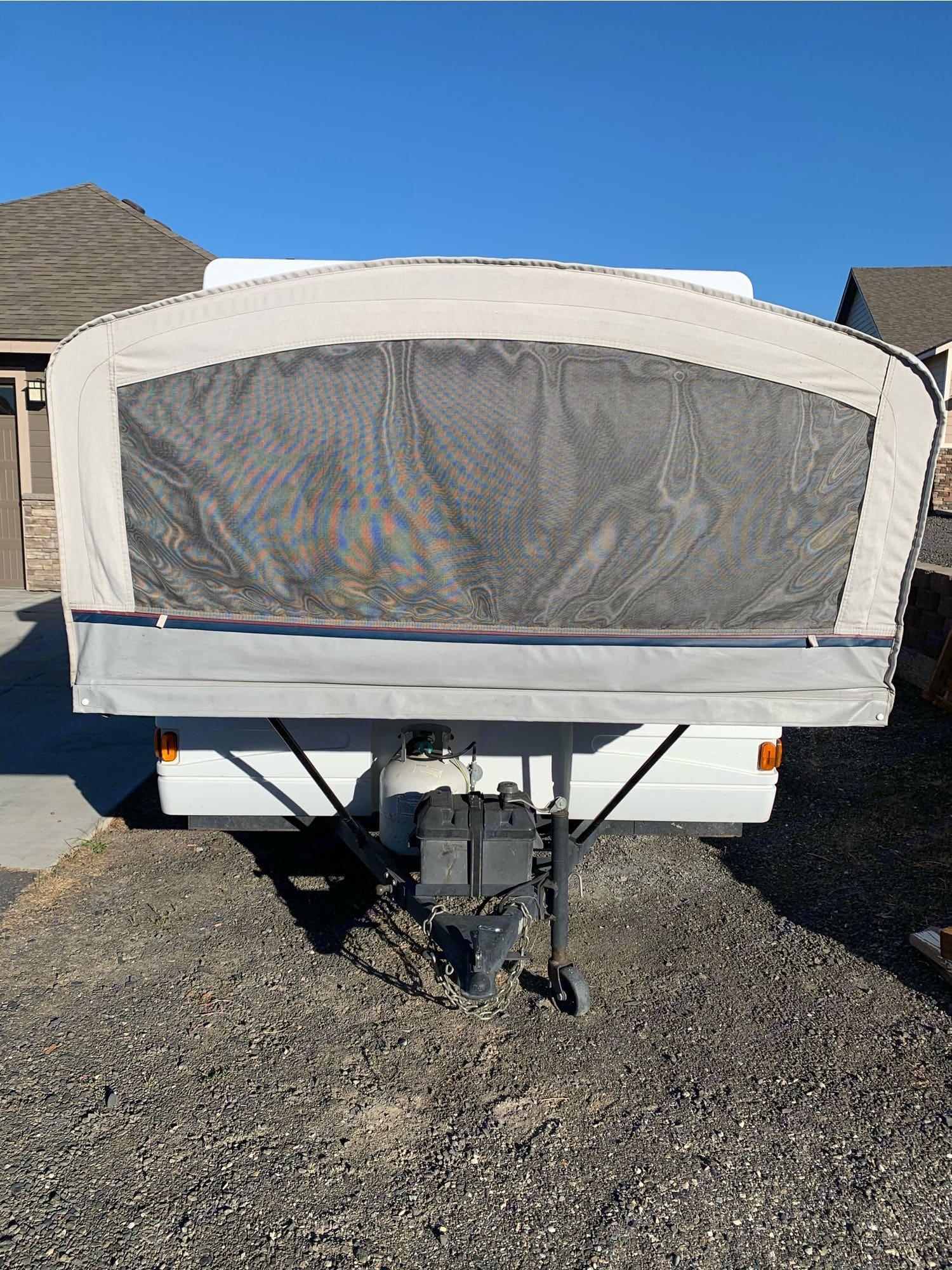 Front side of trailer. Coleman Grand Tour Utah 2003