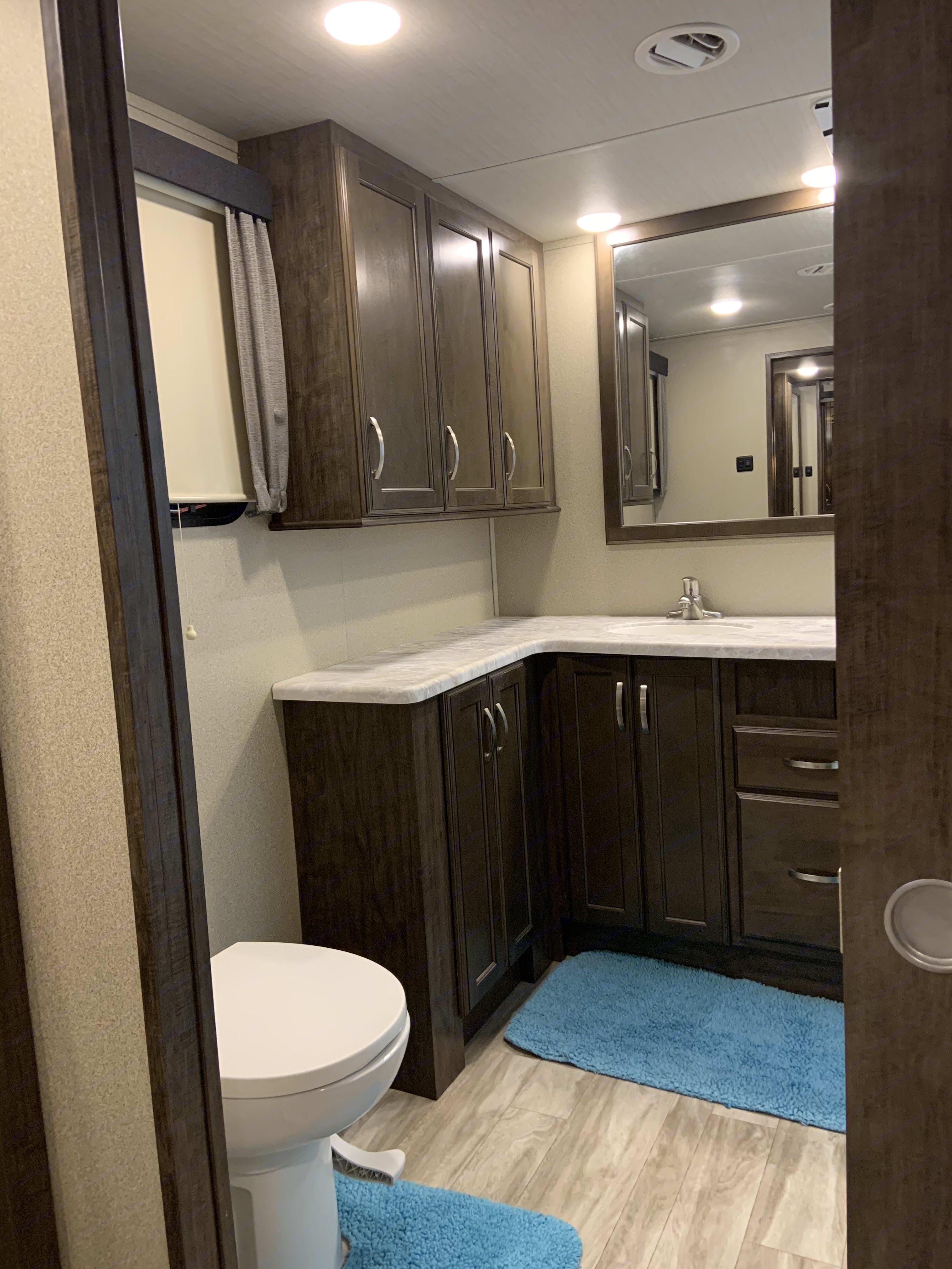 Main bathroom. Grand Design Solitude 2019