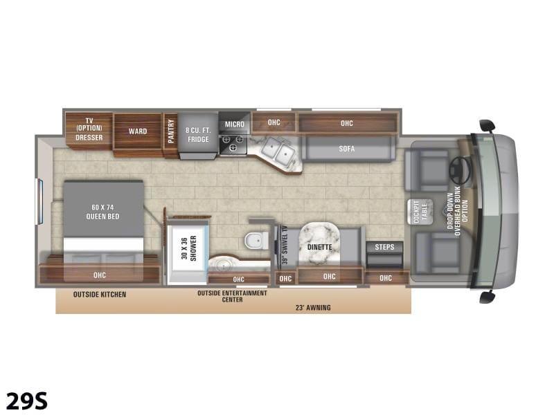 Floor Plan. Entegra Coach Vision 2021