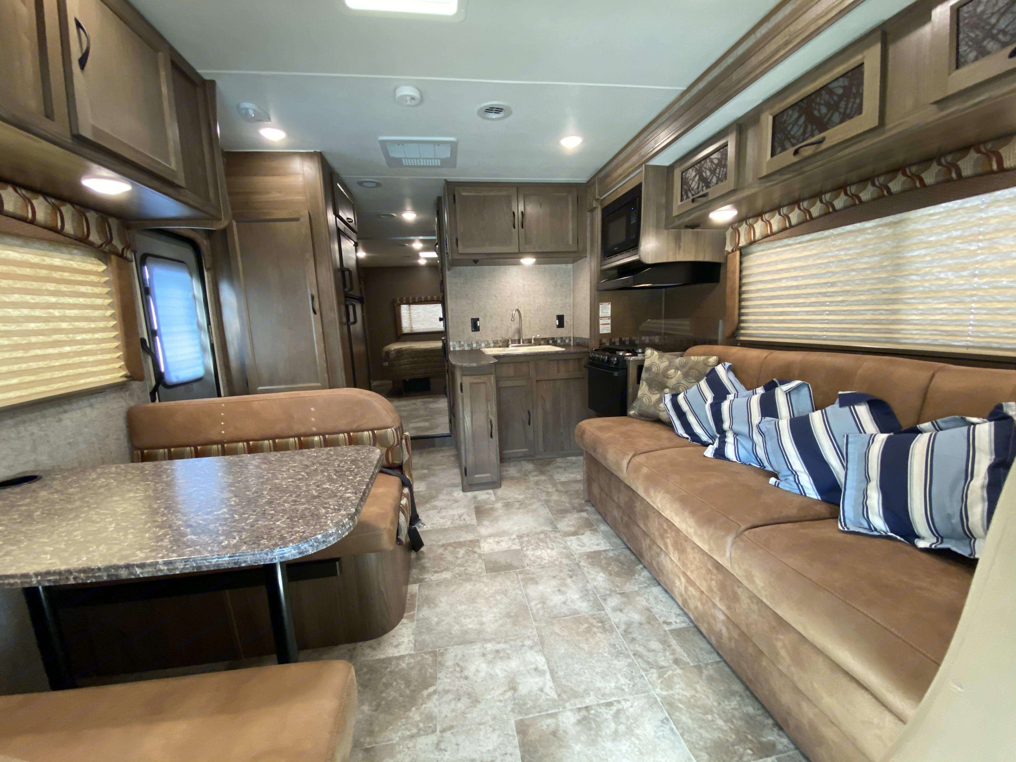Overview from main cabin. Coachmen Freelander 2018
