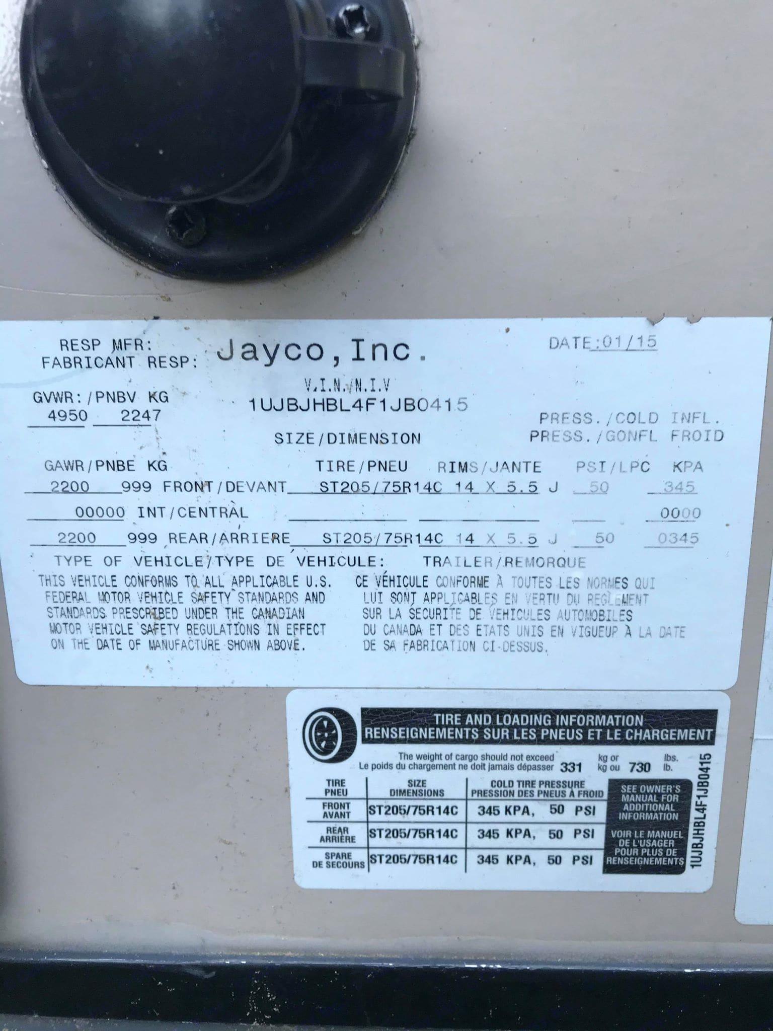 Jayco Jay Feather Ultra Lite 2015