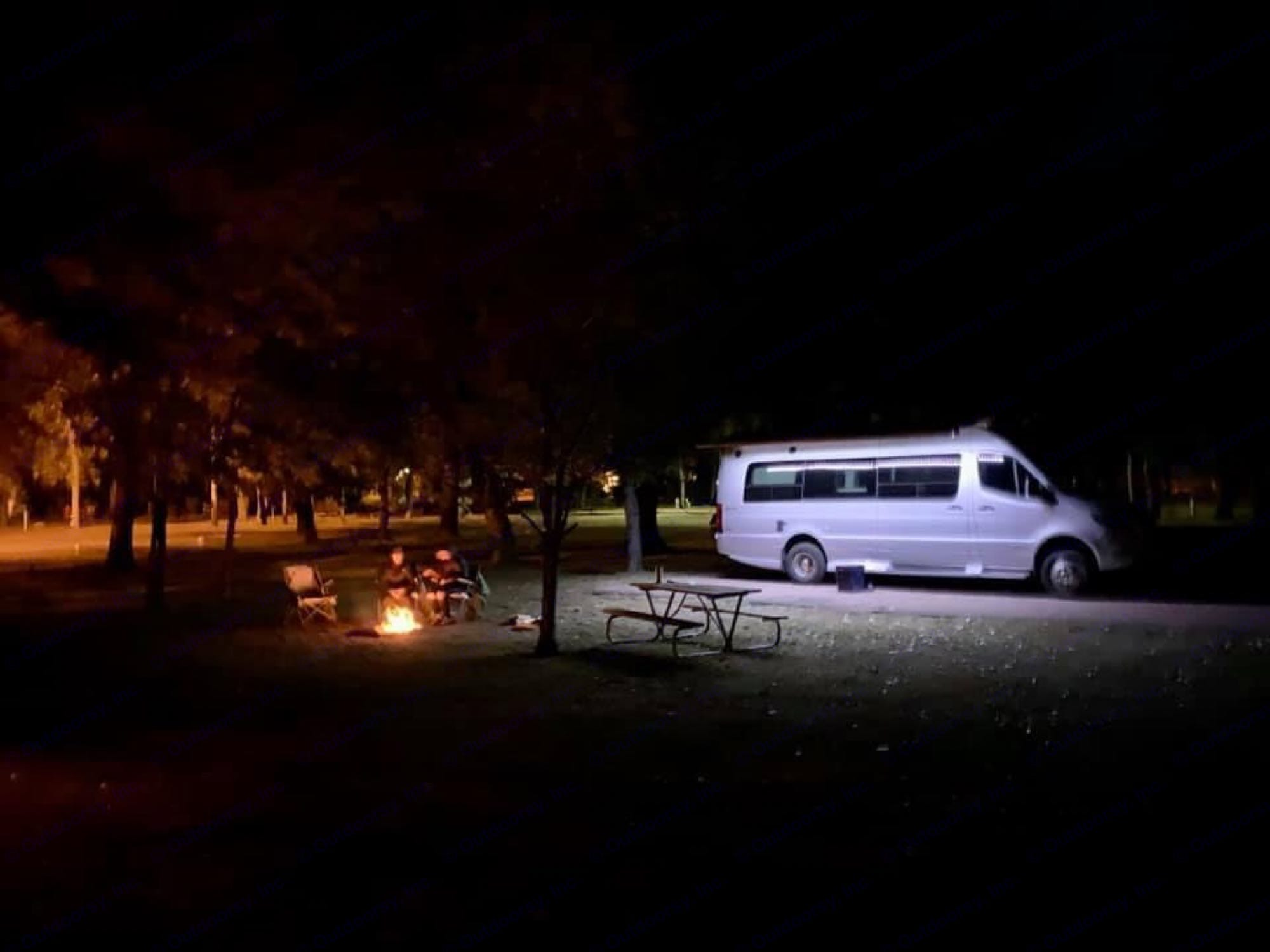 Getting away from it all. Campfires and a beautiful sprinter. Winnebago Era 2020