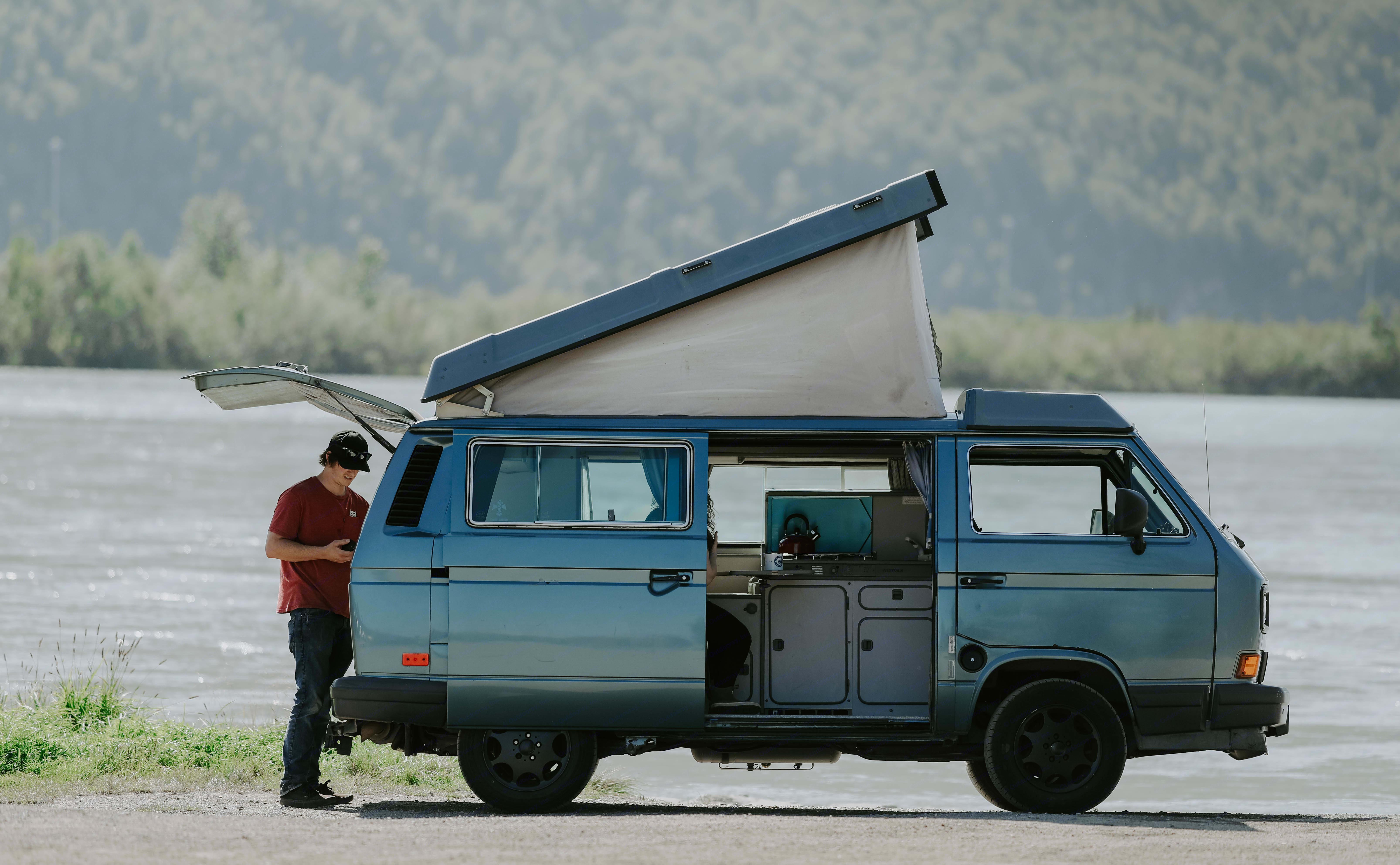 clark with top popped. Volkswagen Westfalia 1988