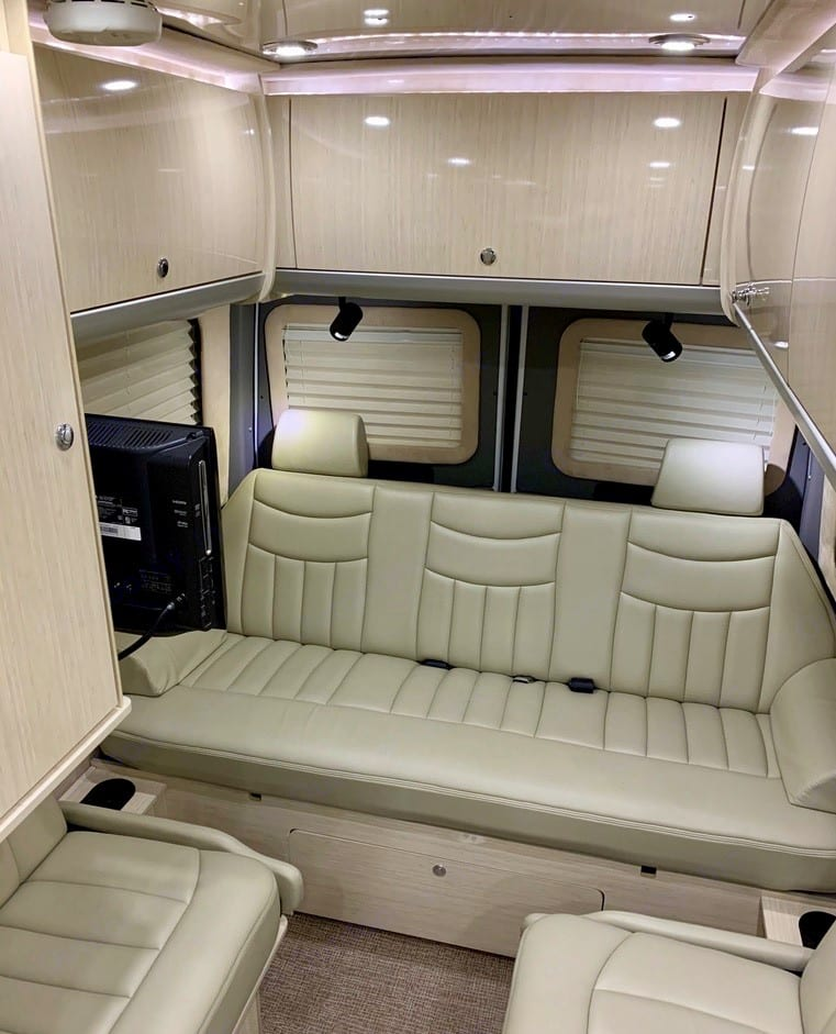Rear seating area. Airstream Interstate 2011