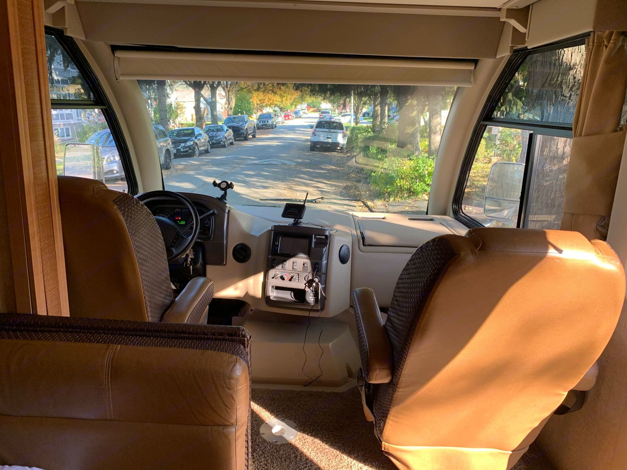 Front window view. Thor Motor Coach Axis 2015