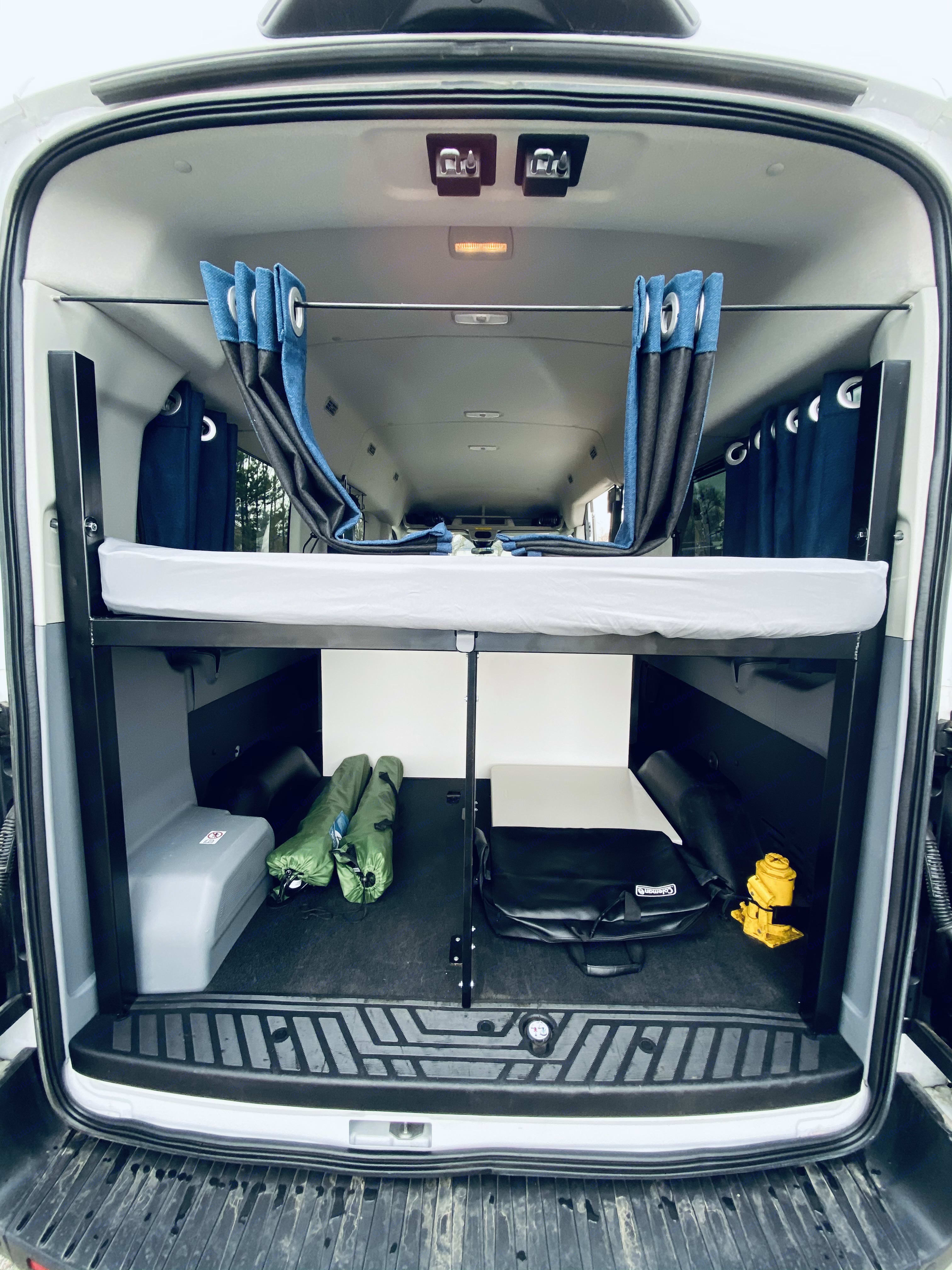 View From Rear Doors. Ford Transit 2019
