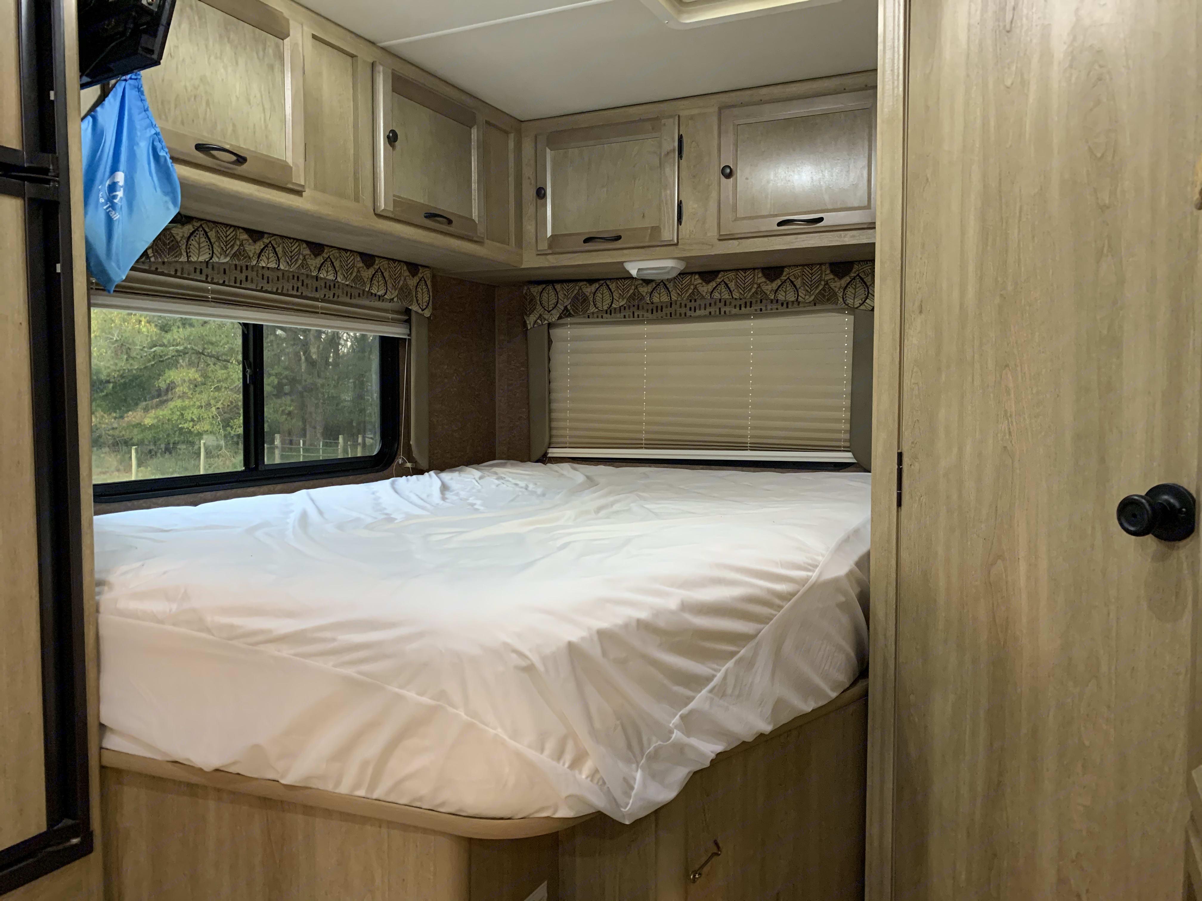 The upgraded mattress is surprisingly comfortable!. Coachmen Freelander 2014