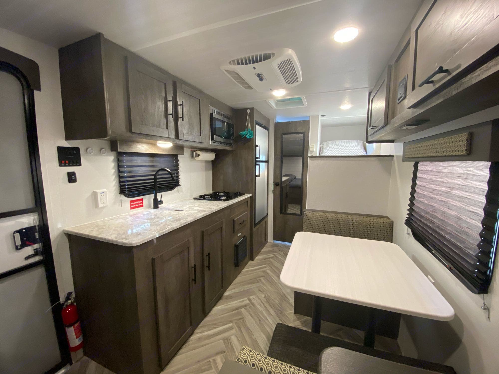 kitchen and Dinette. Forest River Evo 2021