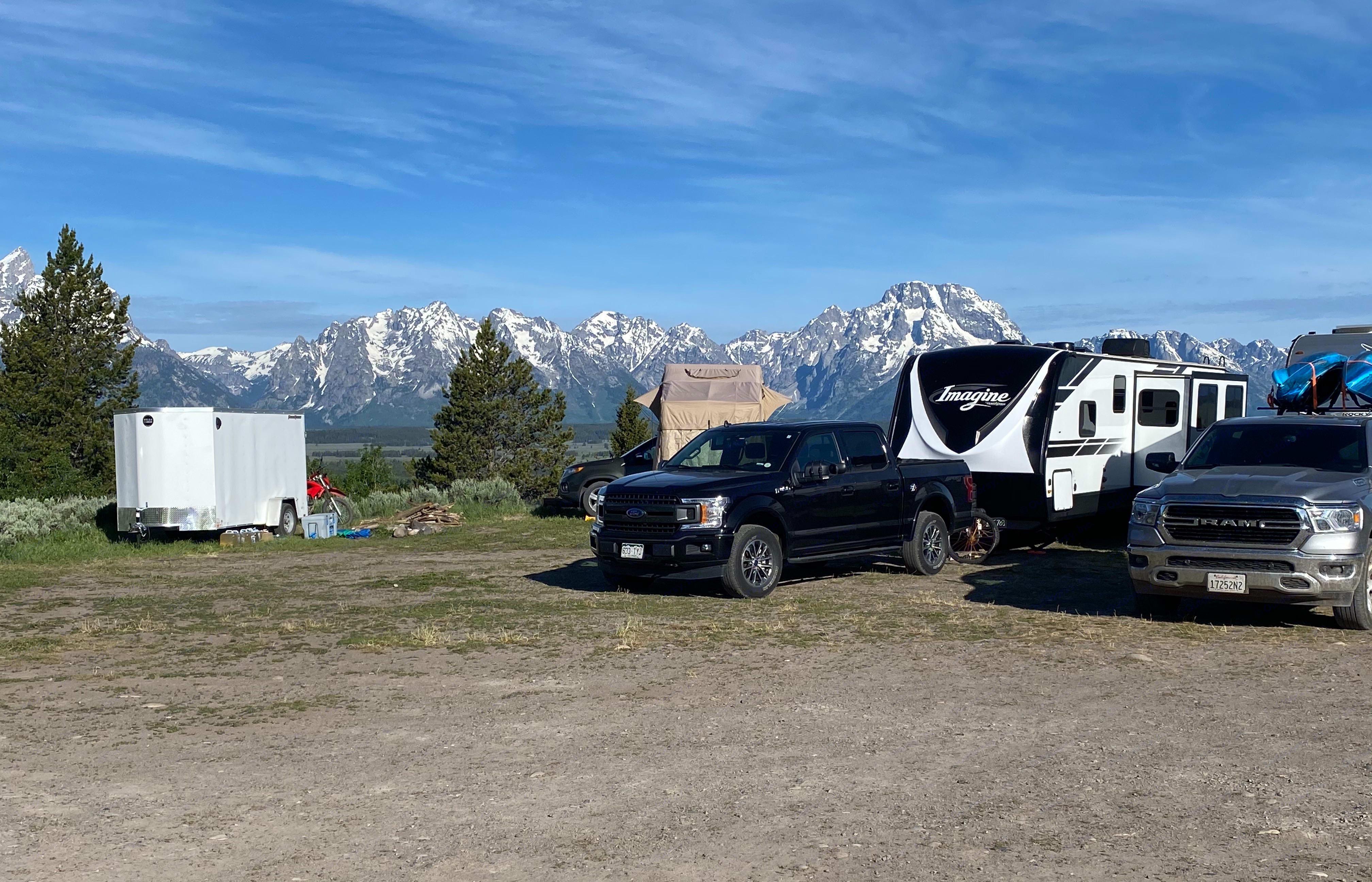 Dispersed camping at the Grand Tetons. Grand Design Imagine 2019