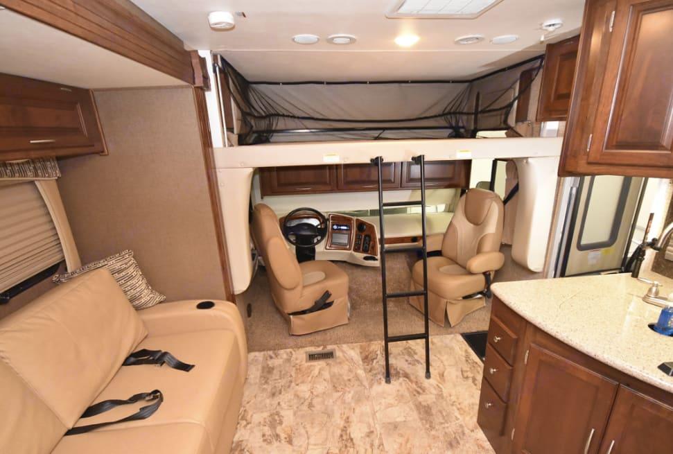 Drop Down Bunk and Drivers Area. Coachmen Mirada A-Class 2016