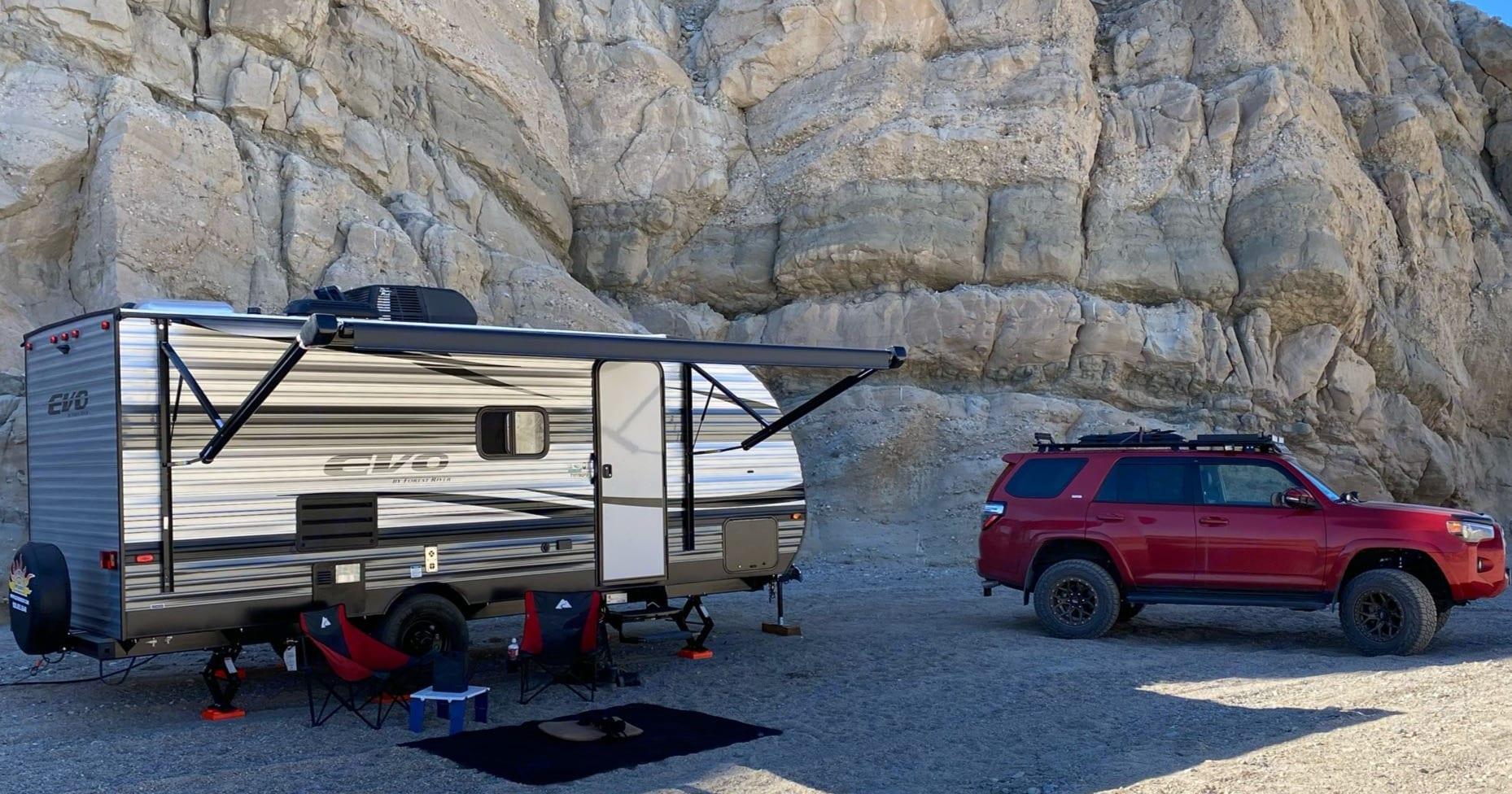 camp set up. Forest River Evo 2021