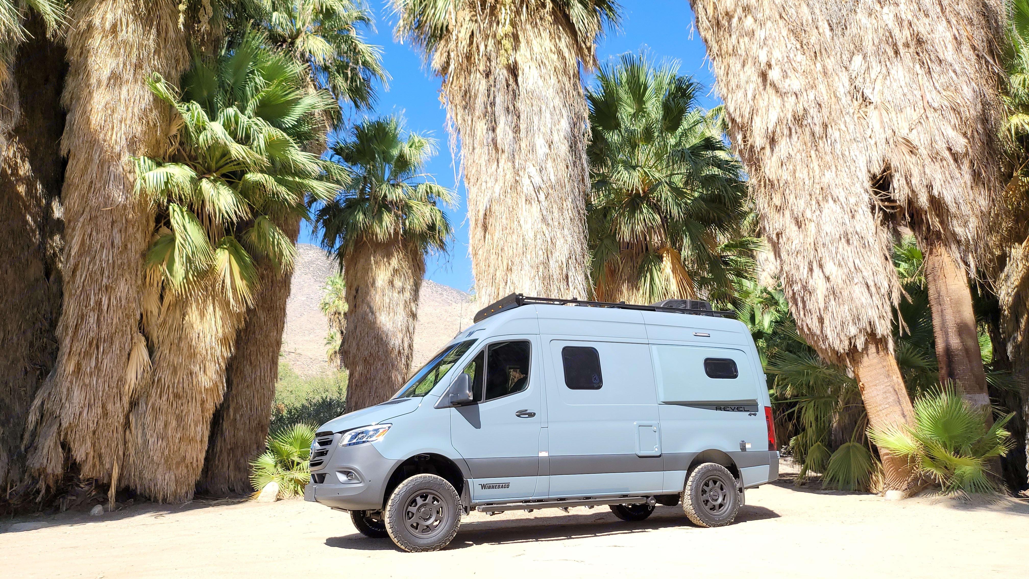 La Vida Revel visits the PS Indian Canyons. Winnebago Revel 2021