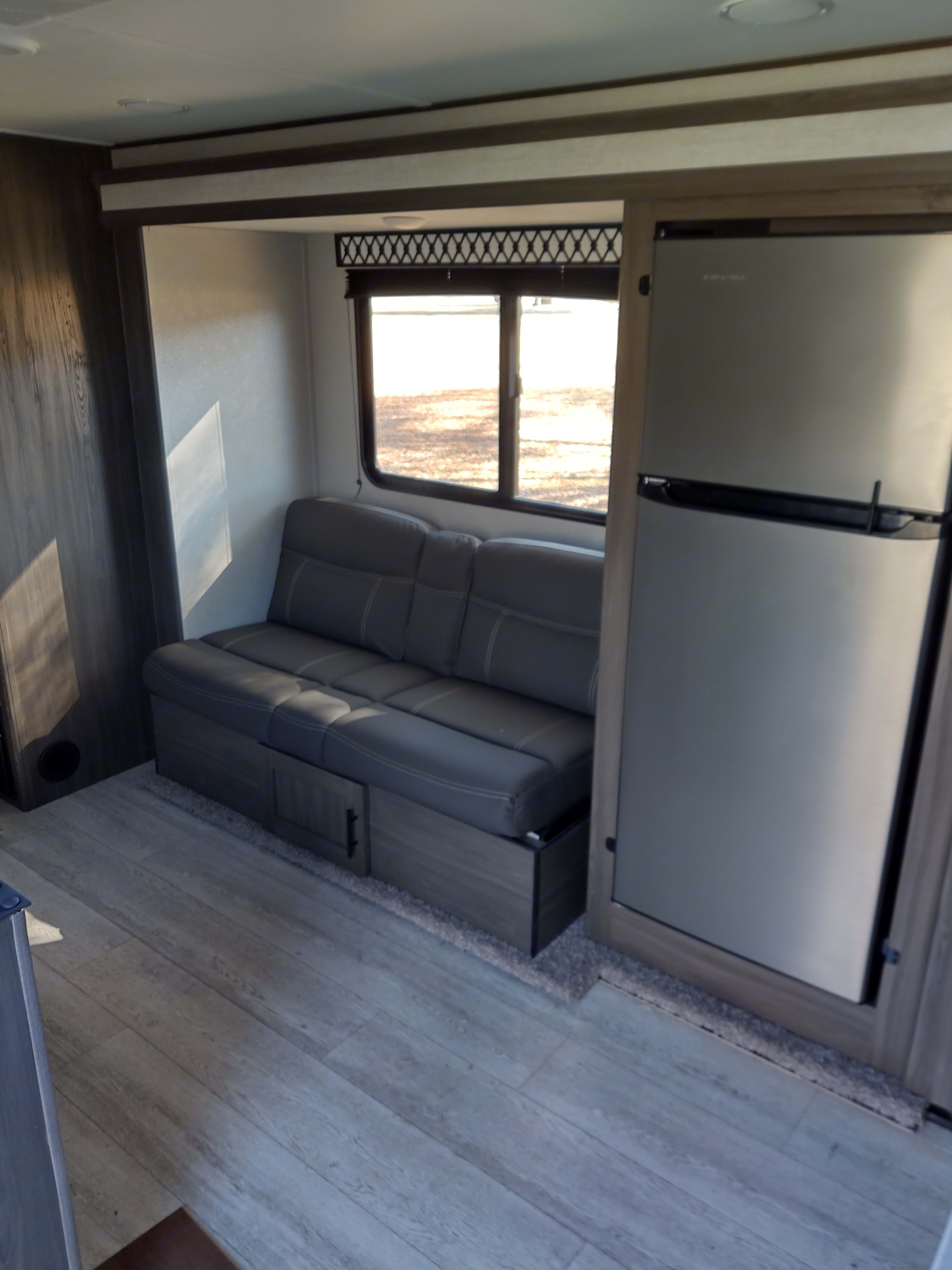 Spacious living area with driver's side slide out (more pics to come). Shasta Oasis 2021