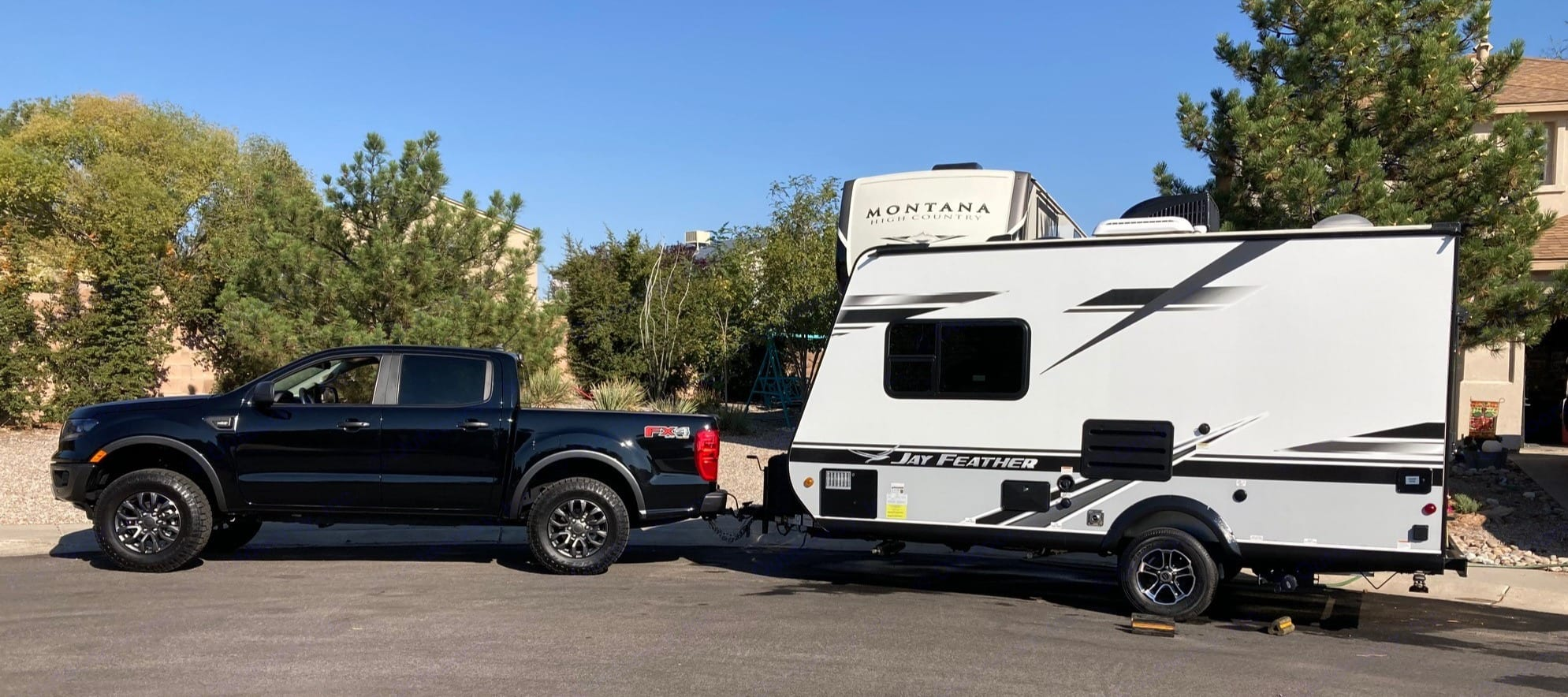 Perfect size for smaller trucks and SUV's with 4000lb+ tow rating. Jayco Jay Feather X17Z Hybrid 2021