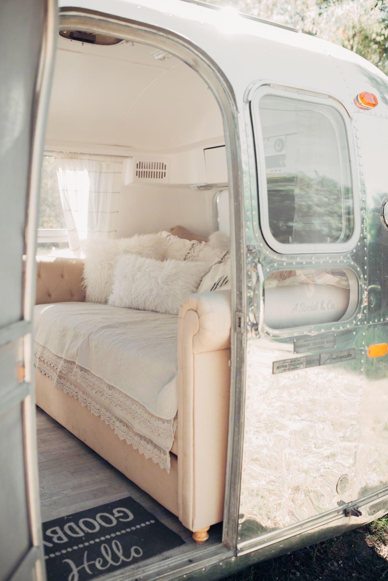 clean modern beauty. Airstream Ambassador 1969