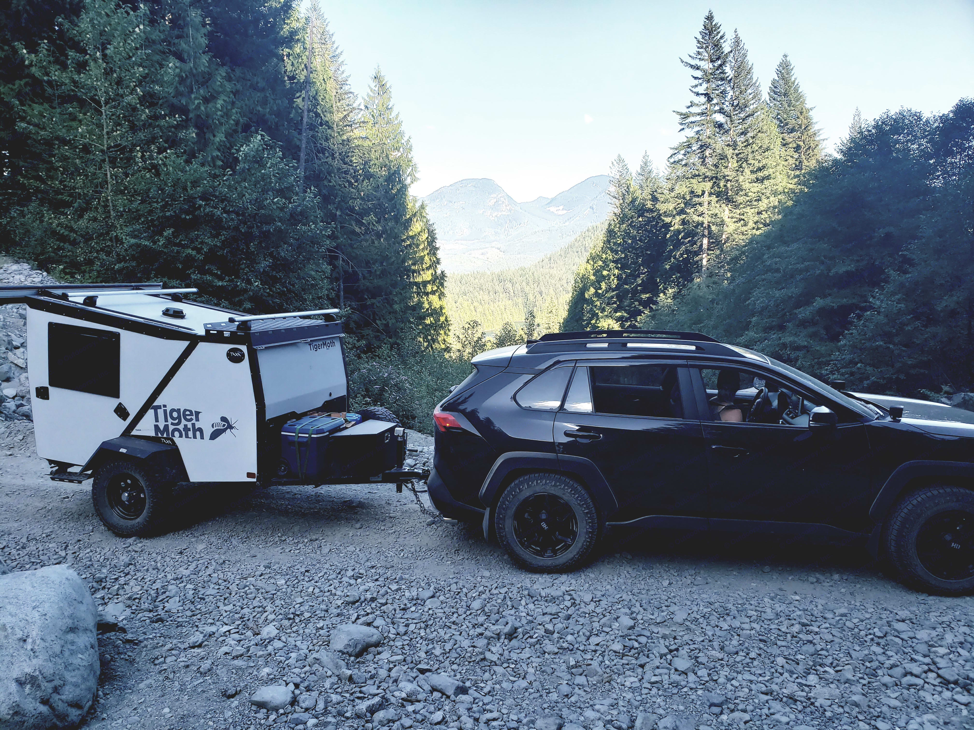 Our RAV4 Adventure and Taxa Outdoors TigerMoth, great gas mileage and ruggedness, who can ask for more.. TAXA Outdoors Tigermoth Camper 2020
