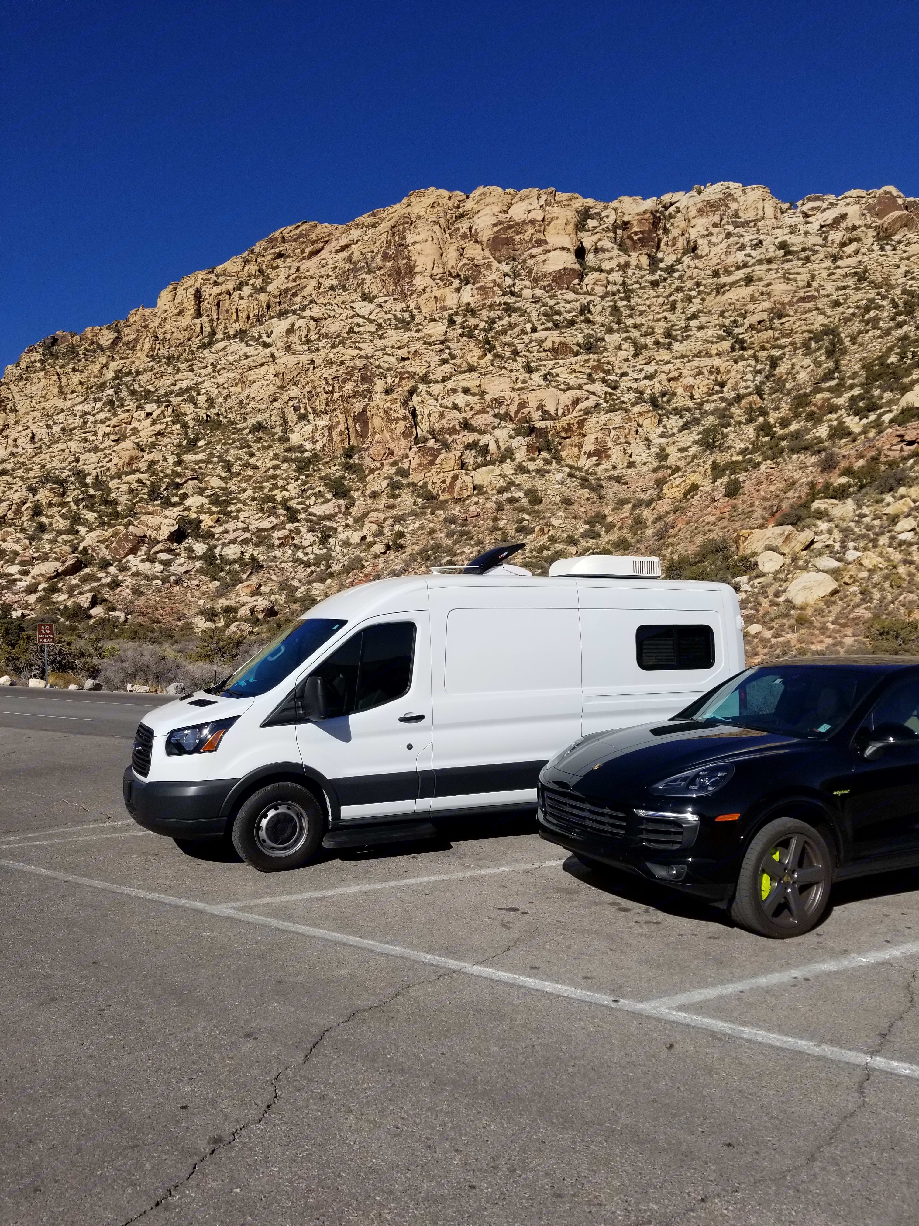 Easy to park in normal parking spaces. Ford Transit 2018