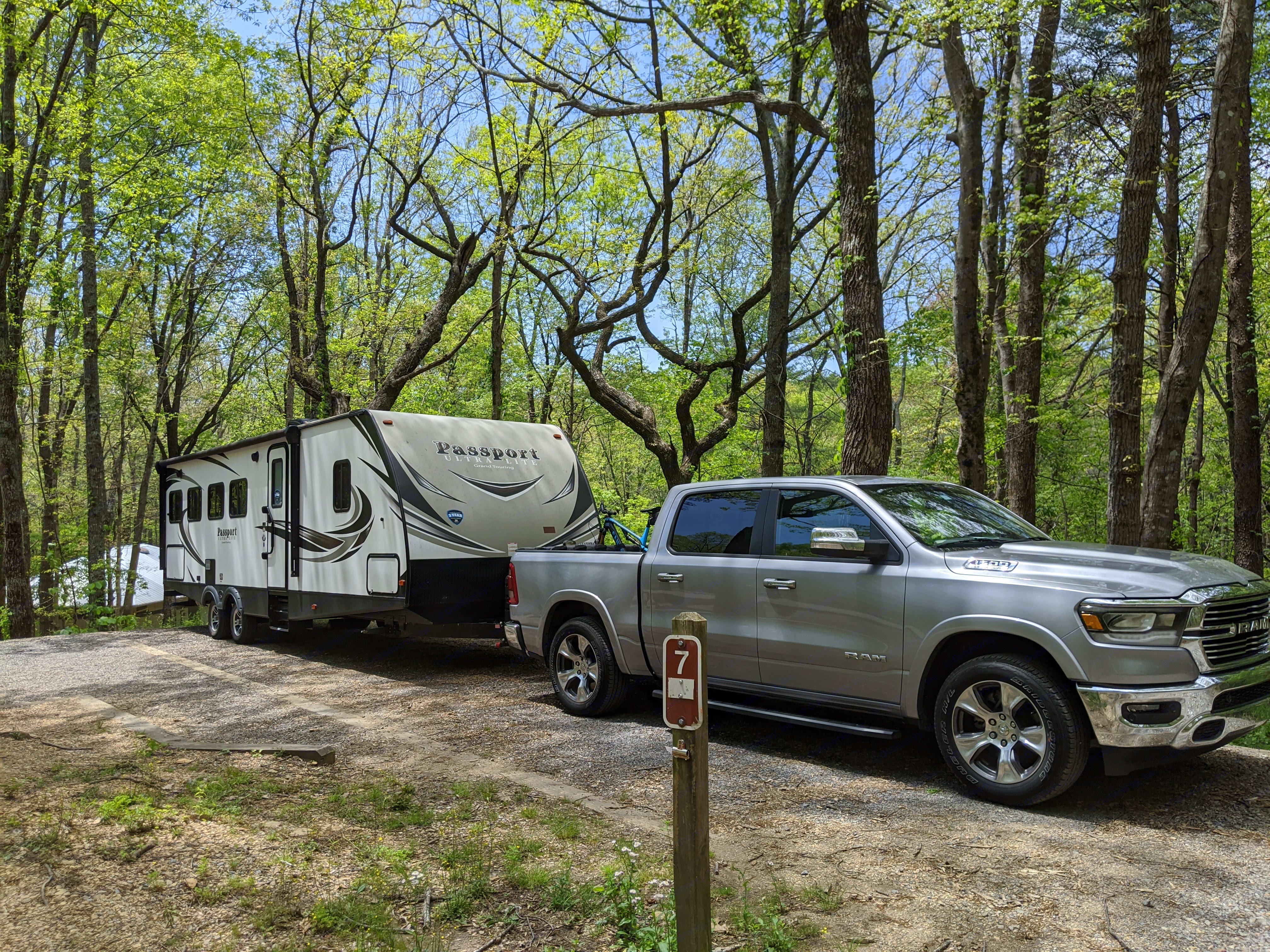Easily towable with most half ton trucks or large SUVs (tow vehicle not included). Keystone Passport 2018
