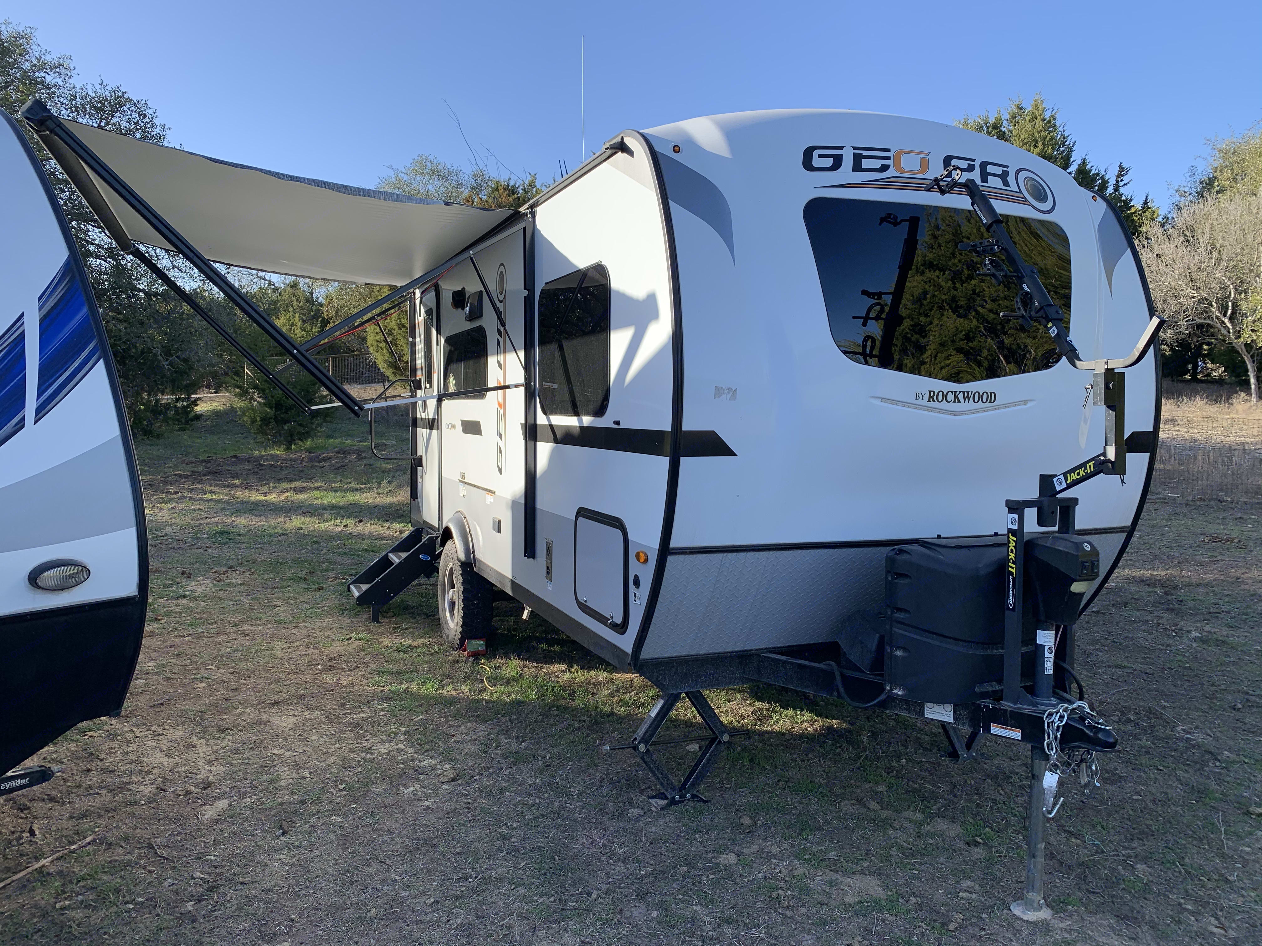 She has a massive awning to give you some shade on those warm Summer days!. Forest River Rockwood Lite 2020