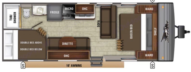 Spacious and efficient living space. Jayco Jay Flight 2021