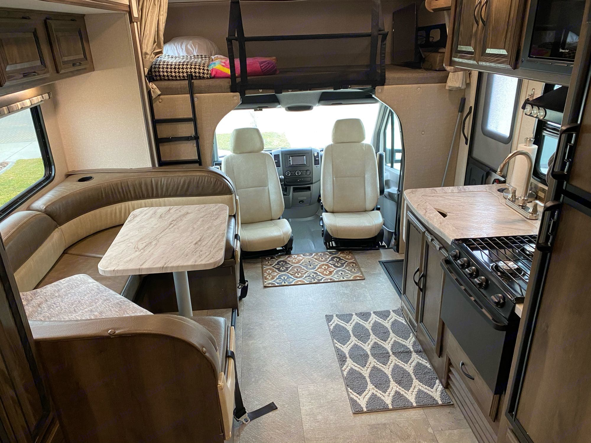 captains chairs swivel to make for more interior seating also see bunk bed. Coachmen Prism 2019