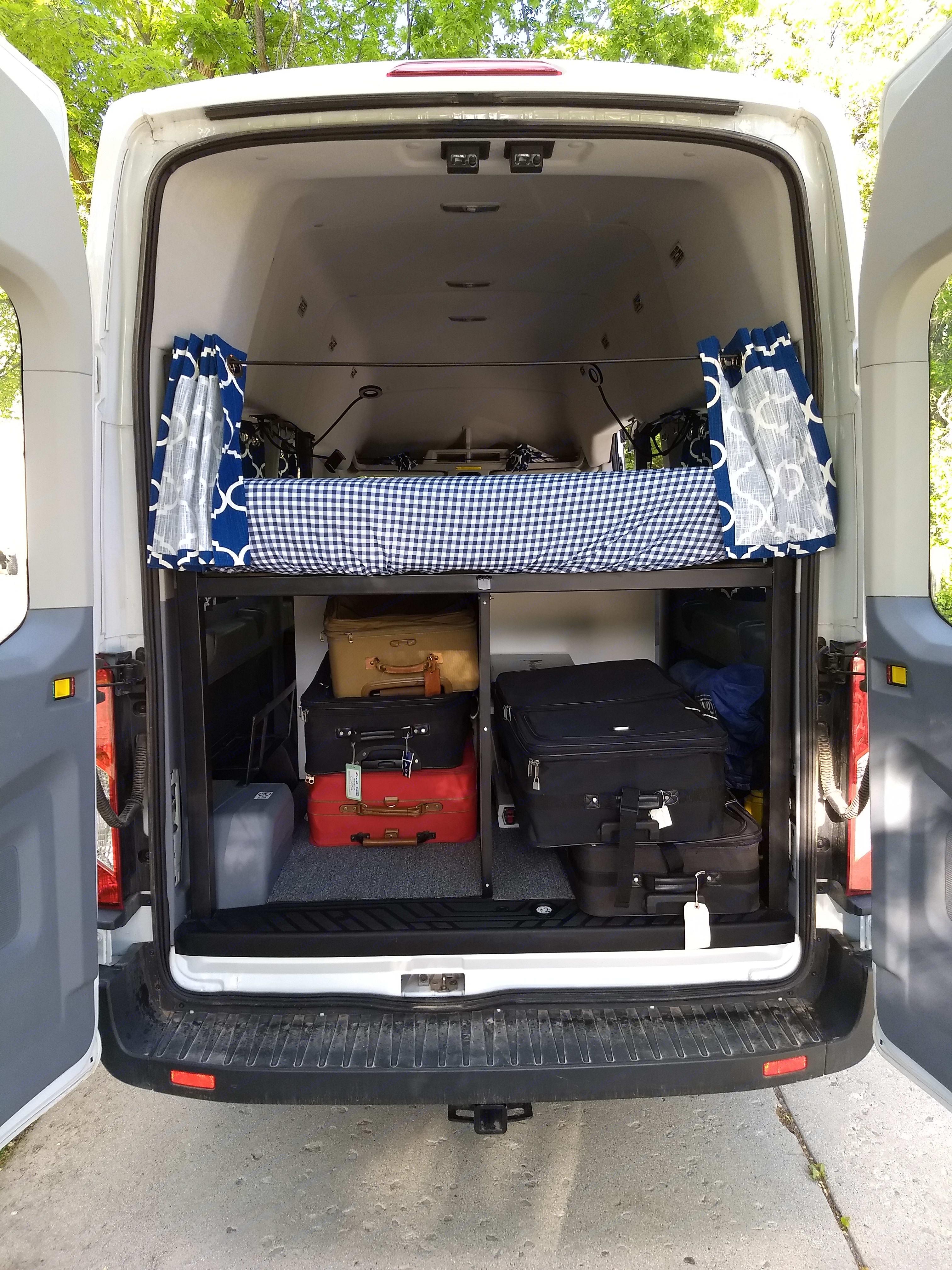 Rear Storage. Ford Transit 2019
