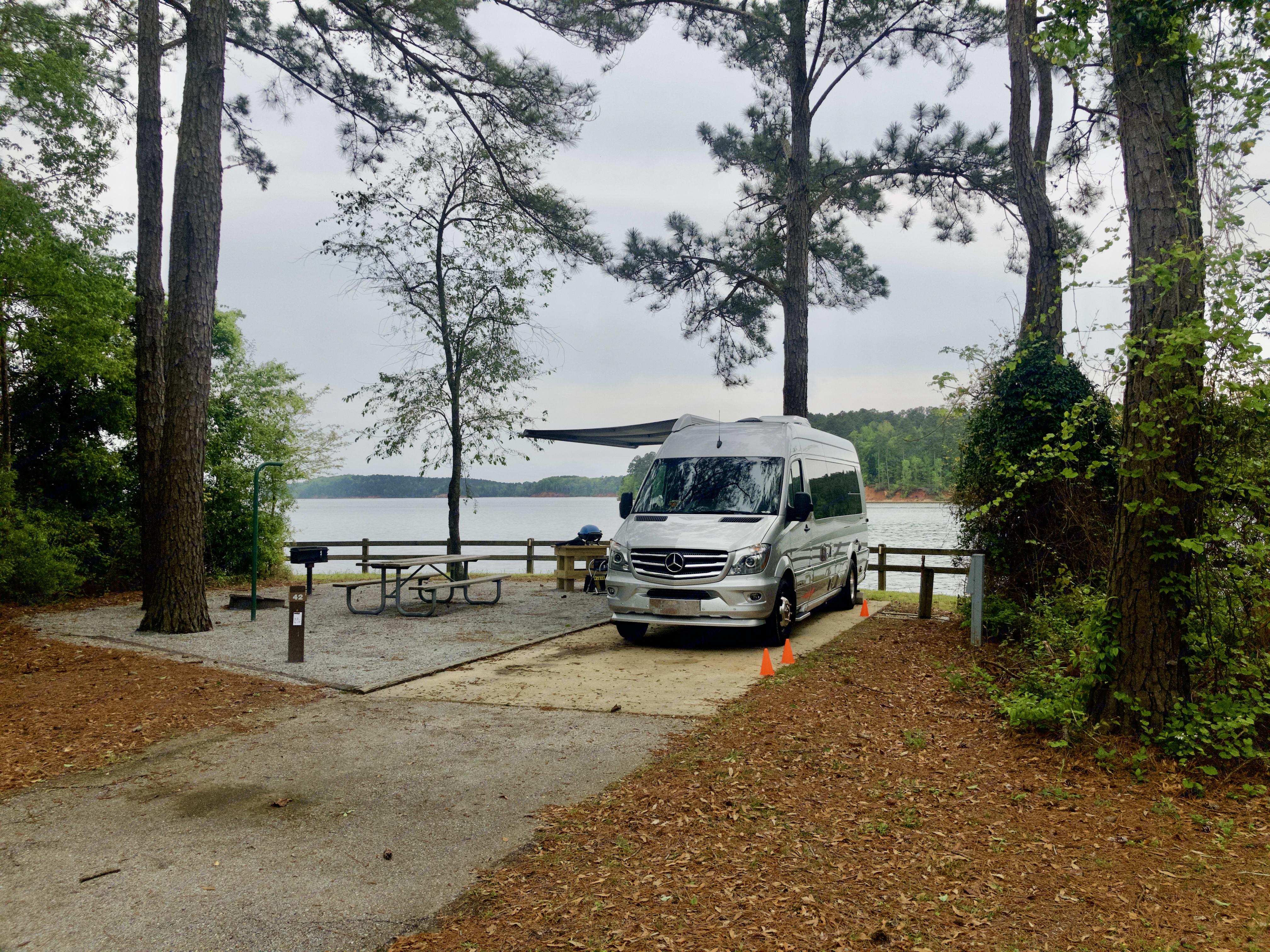 Hardridge Creek Campground, Walter F. George Lake, Eufaula, AL. Airstream Interstate 2018