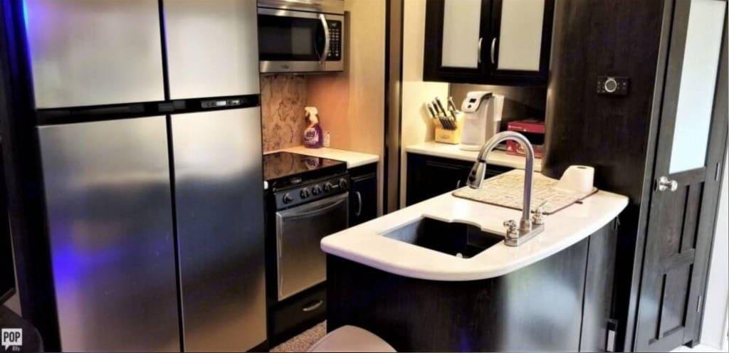 Roomy kitchen! . Grand Design Momentum 2015
